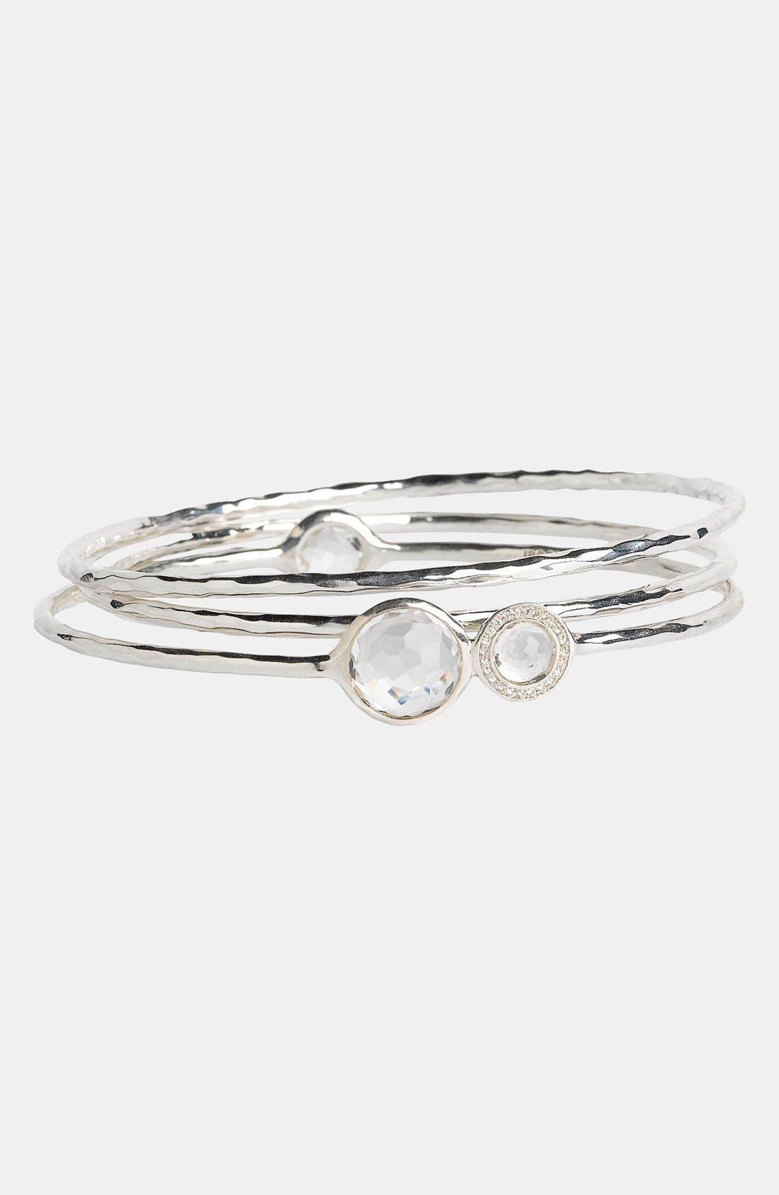 Alternate Image 1 Selected - Ippolita 'Silver Diamond - Lollipop' Stone & Diamond Bangles (Set of 3) (Nordstrom Exclusive)