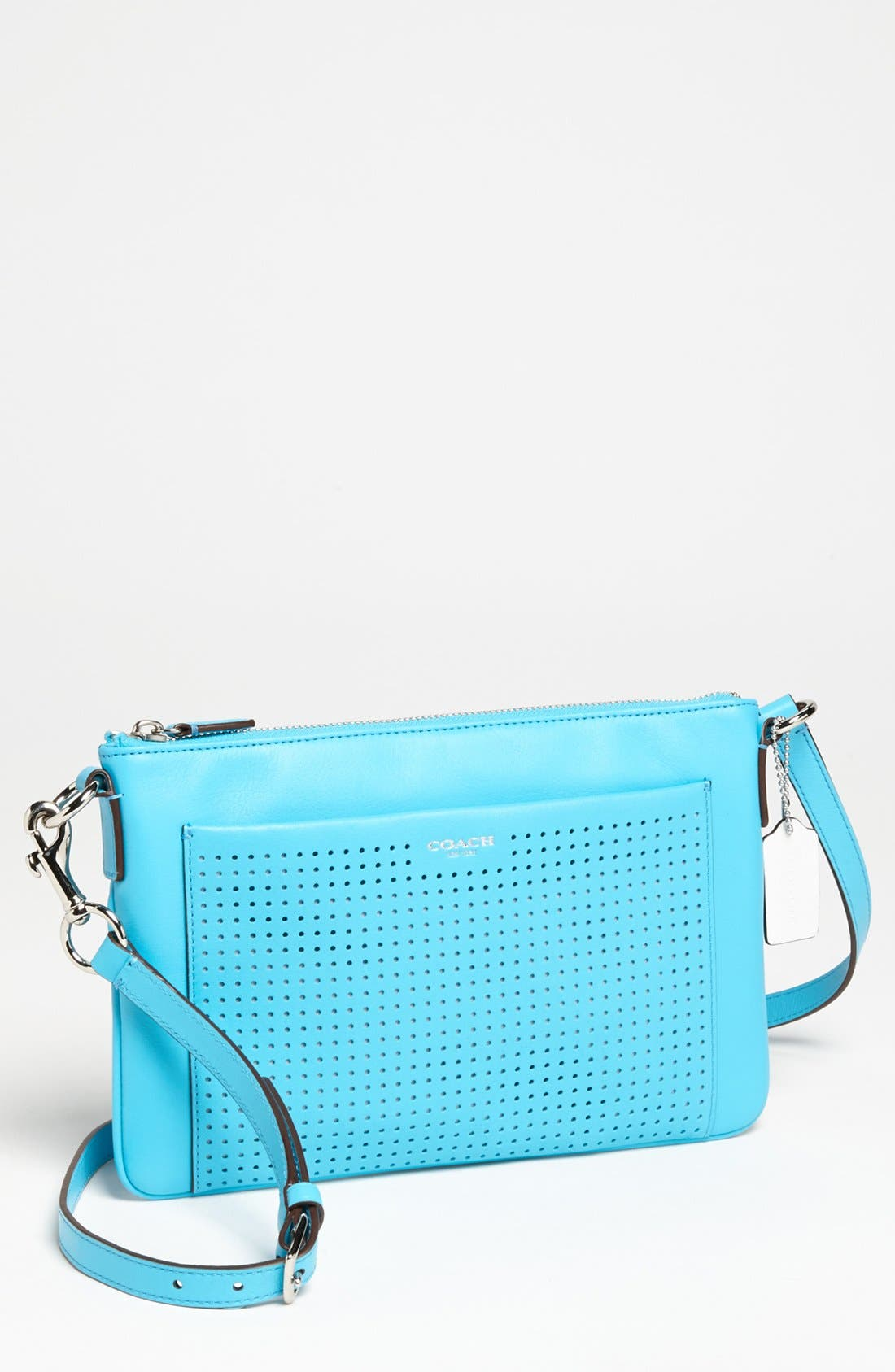Alternate Image 1 Selected - COACH 'Legacy - Swingpack' Perforated Leather Crossbody Bag, Small