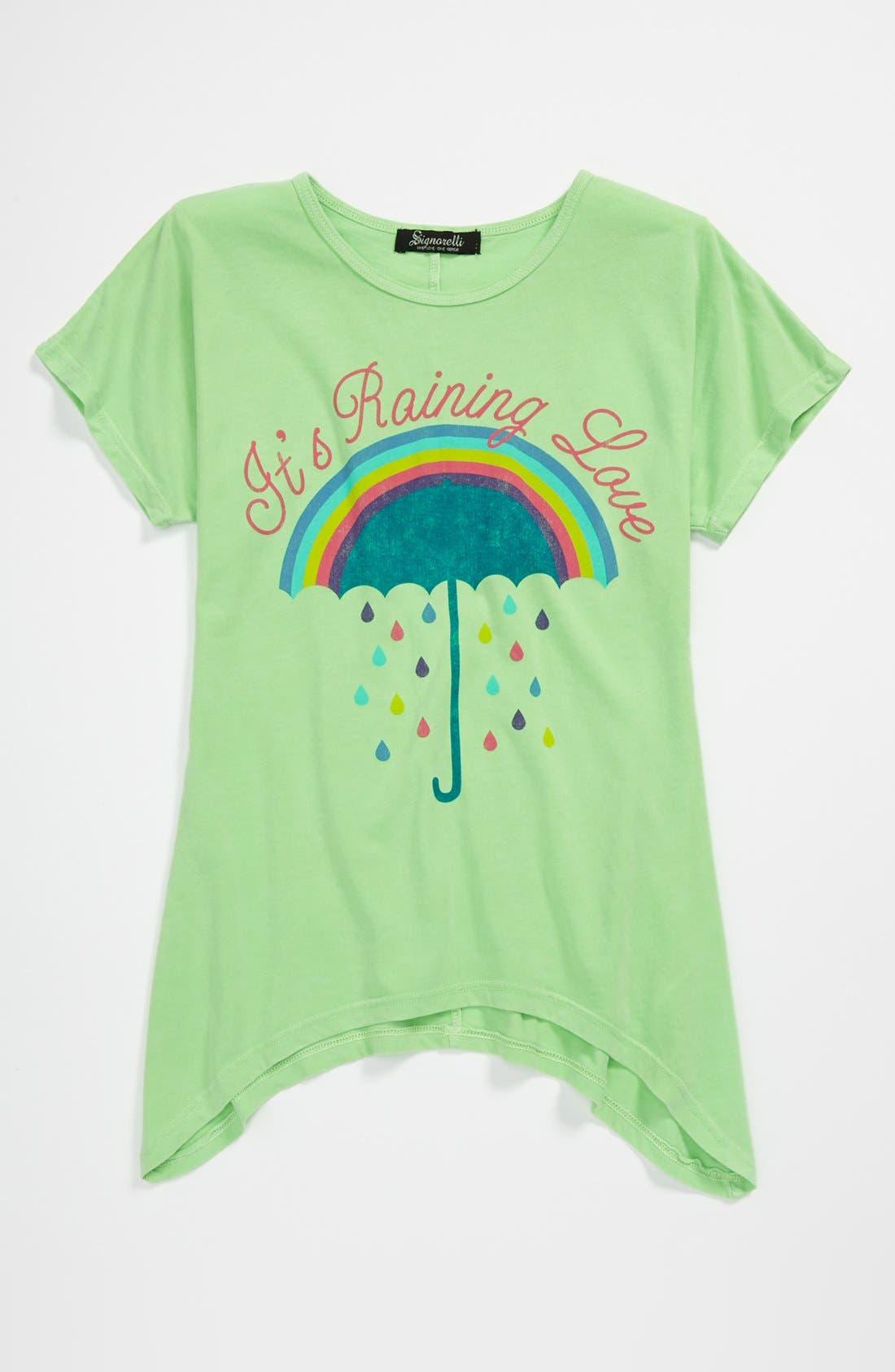 Main Image - Signorelli Rainbow Graphic Tee (Big Girls)
