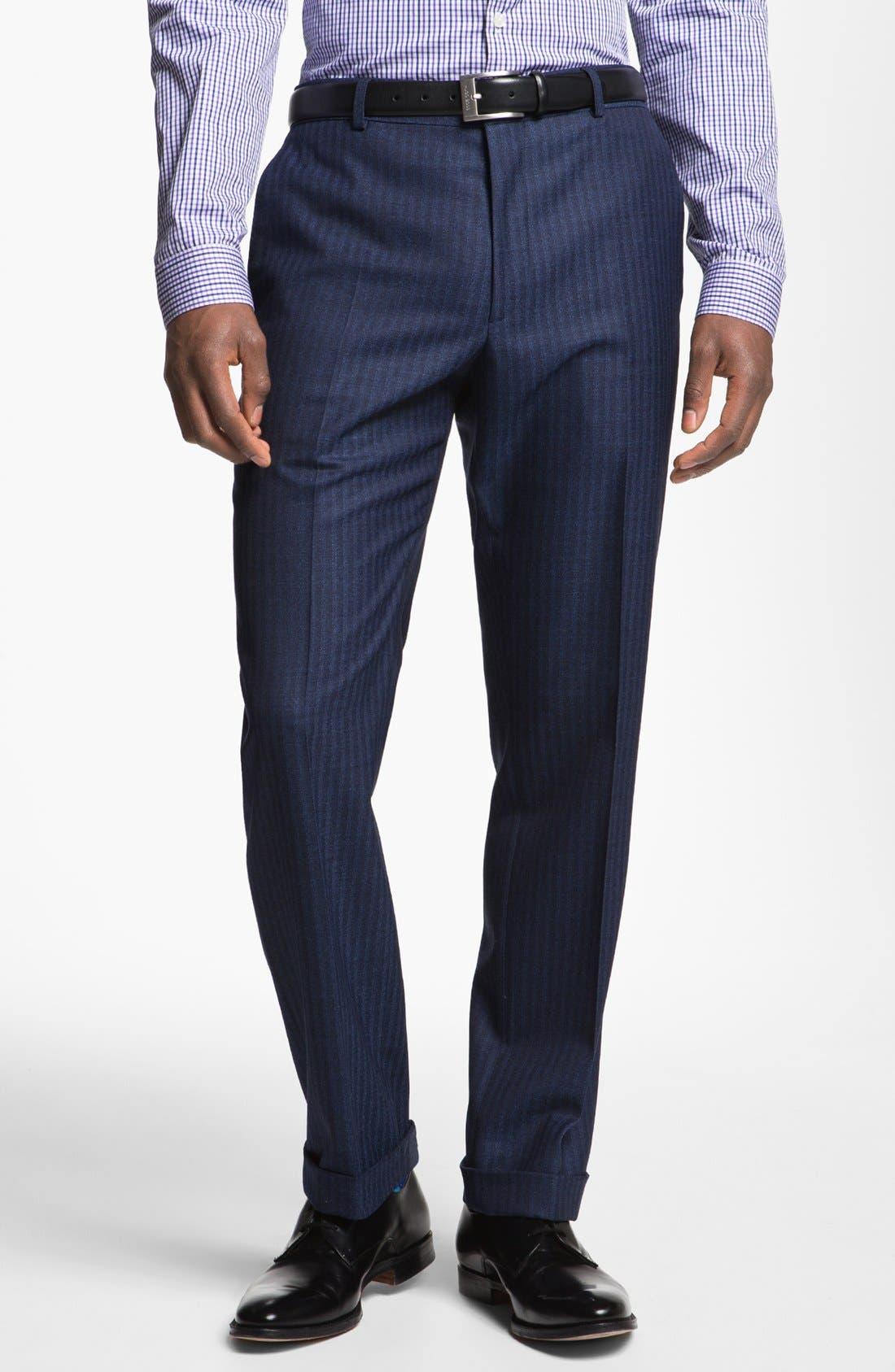 Alternate Image 5  - Paul Smith London Slim Fit Stripe Wool Suit