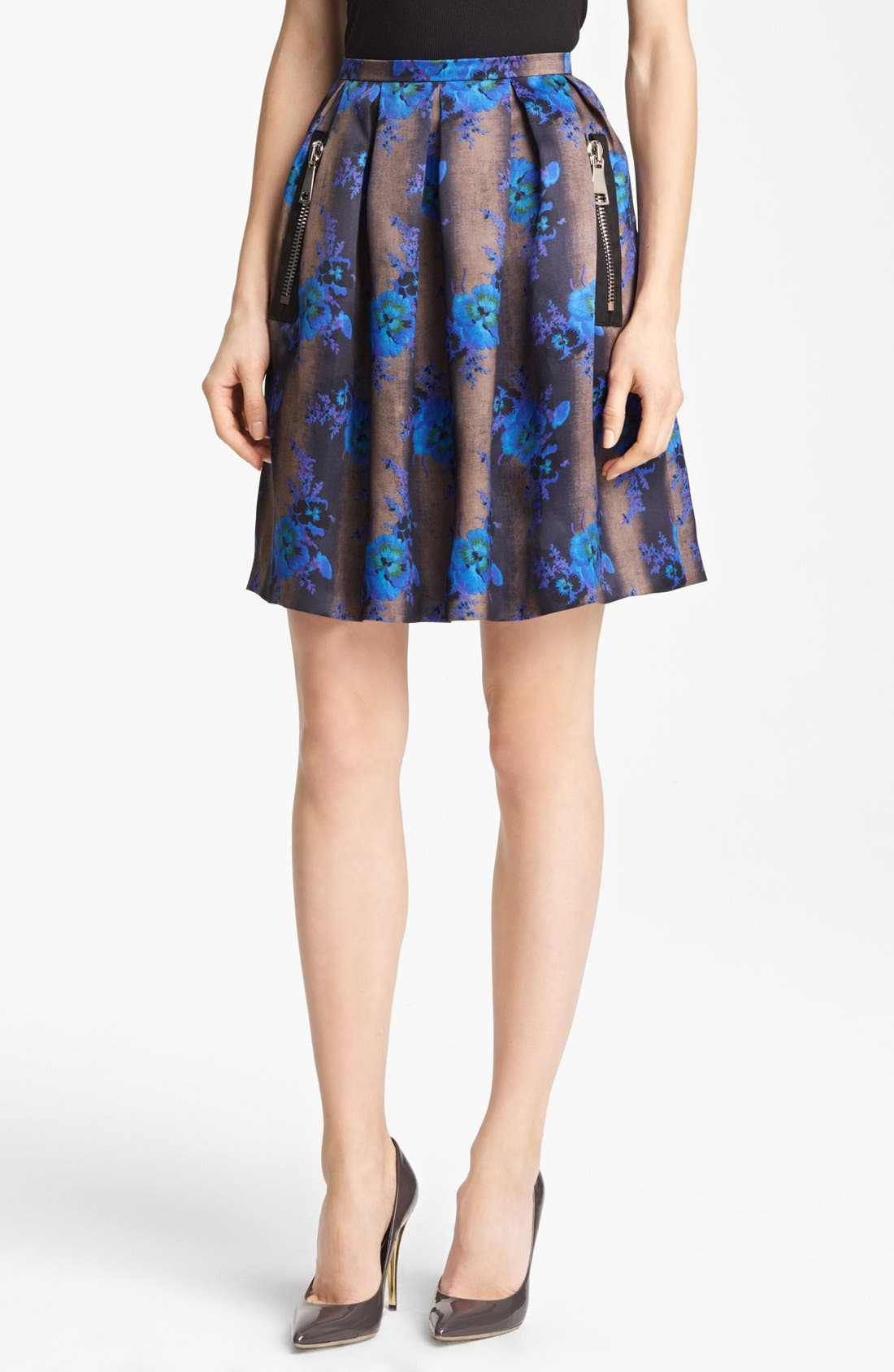 Alternate Image 1 Selected - Christopher Kane Print Silk Organza Skirt