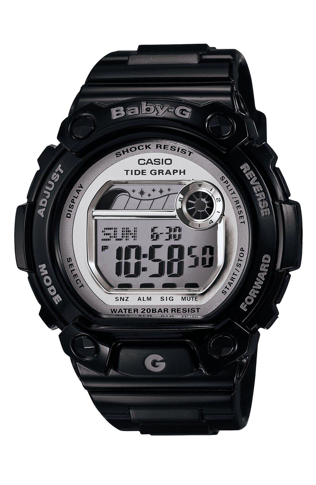 Main Image - Baby-G 'Tidegraph' Digital Watch, 45mm x 42mm