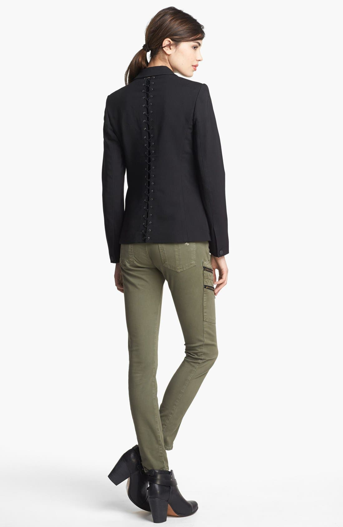 Alternate Image 4  - rag & bone 'Lillian' Lace-Up Back Blazer