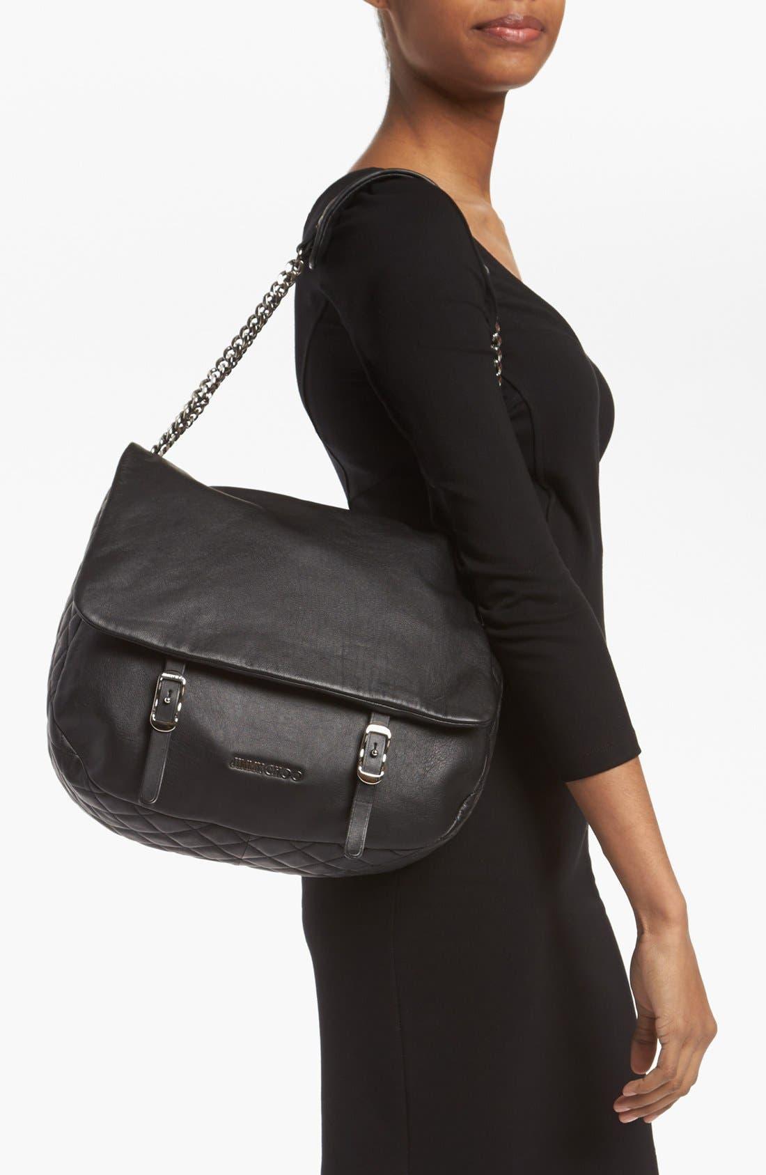 Alternate Image 2  - Jimmy Choo 'Becka Biker - Large' Leather Shoulder Bag