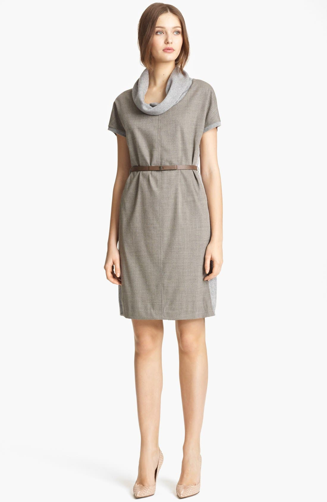Alternate Image 1 Selected - Fabiana Filippi Wool Front Sweater Dress