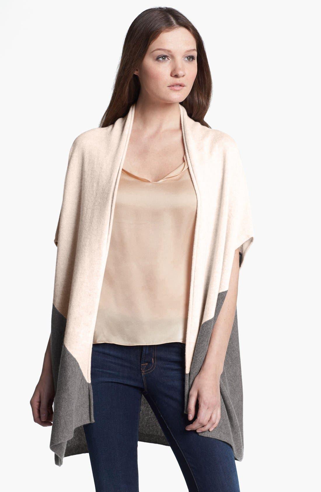 Alternate Image 1 Selected - Nordstrom Colorblock Cashmere Vest