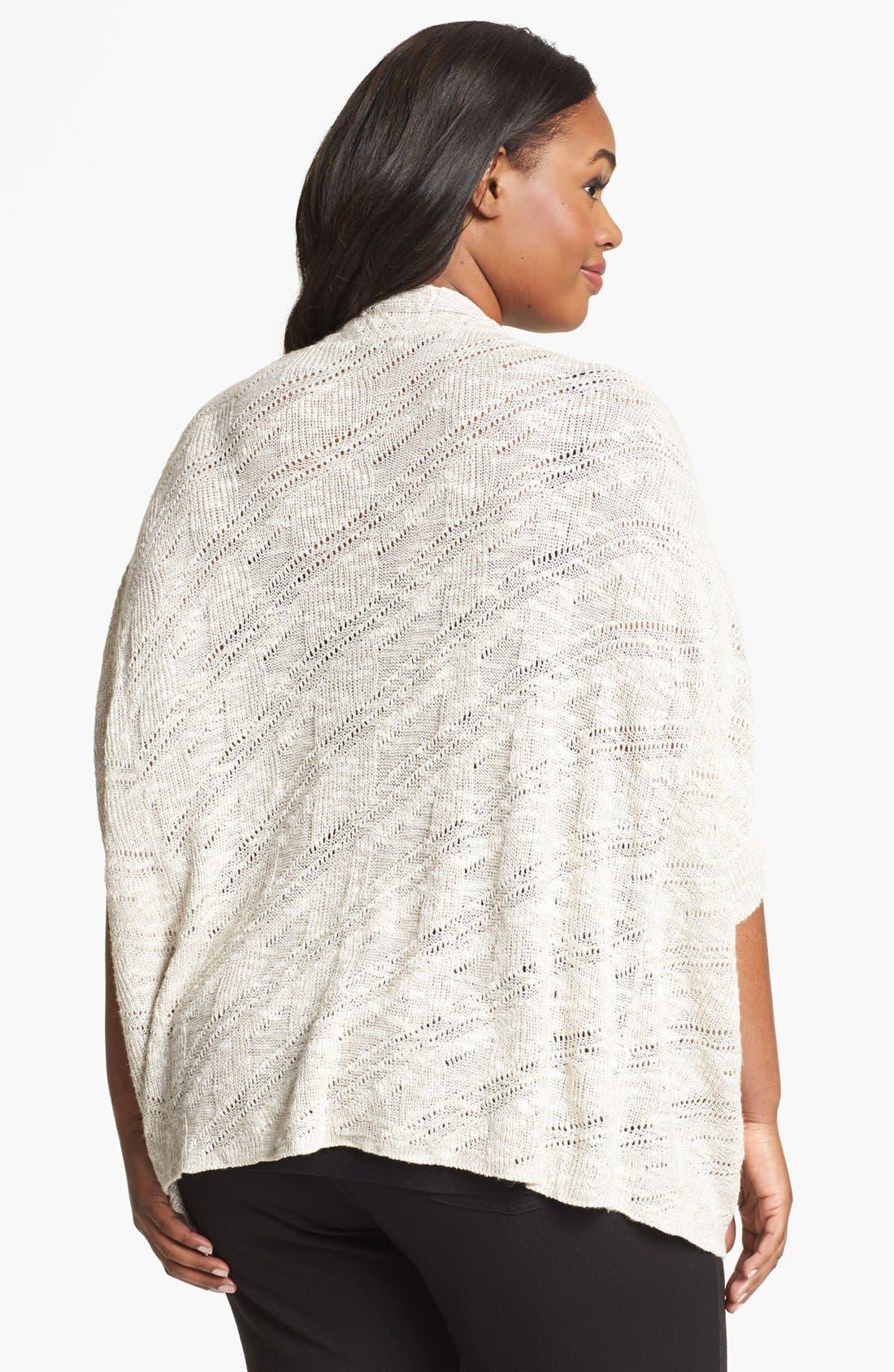 Alternate Image 2  - Eileen Fisher Dolman Sleeve Cardigan (Plus Size)