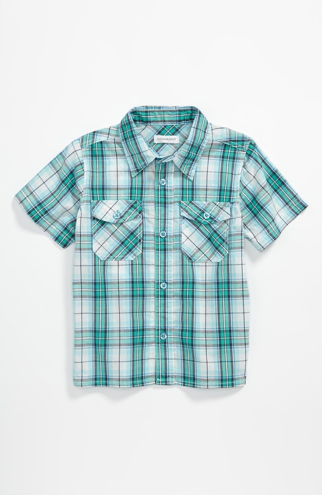 Alternate Image 1 Selected - Pumpkin Patch Check Shirt (Toddler)