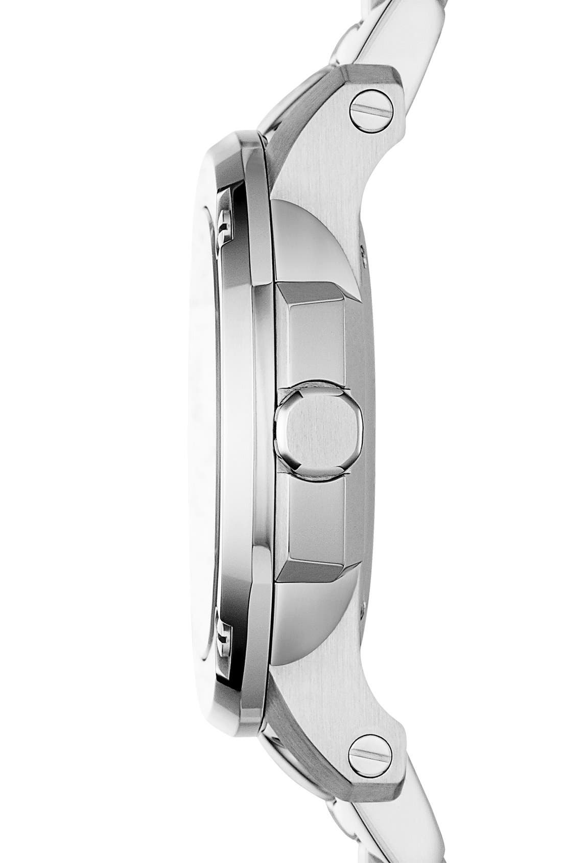 Alternate Image 4  - Burberry The Britain Mother-of-Pearl Bracelet Watch, 34mm