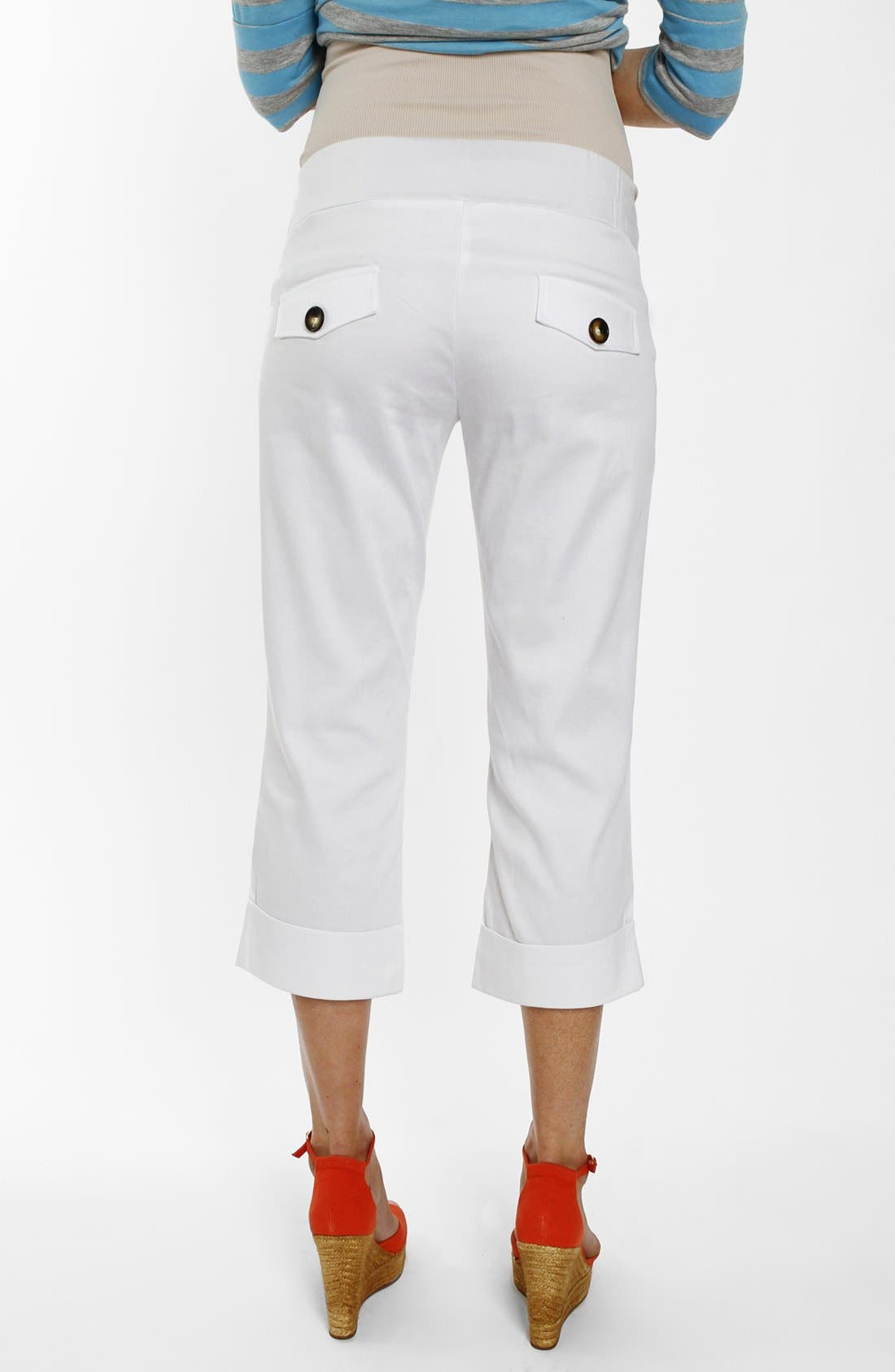 Alternate Image 2  - Everly Grey 'Carrie' Cropped Maternity Pants