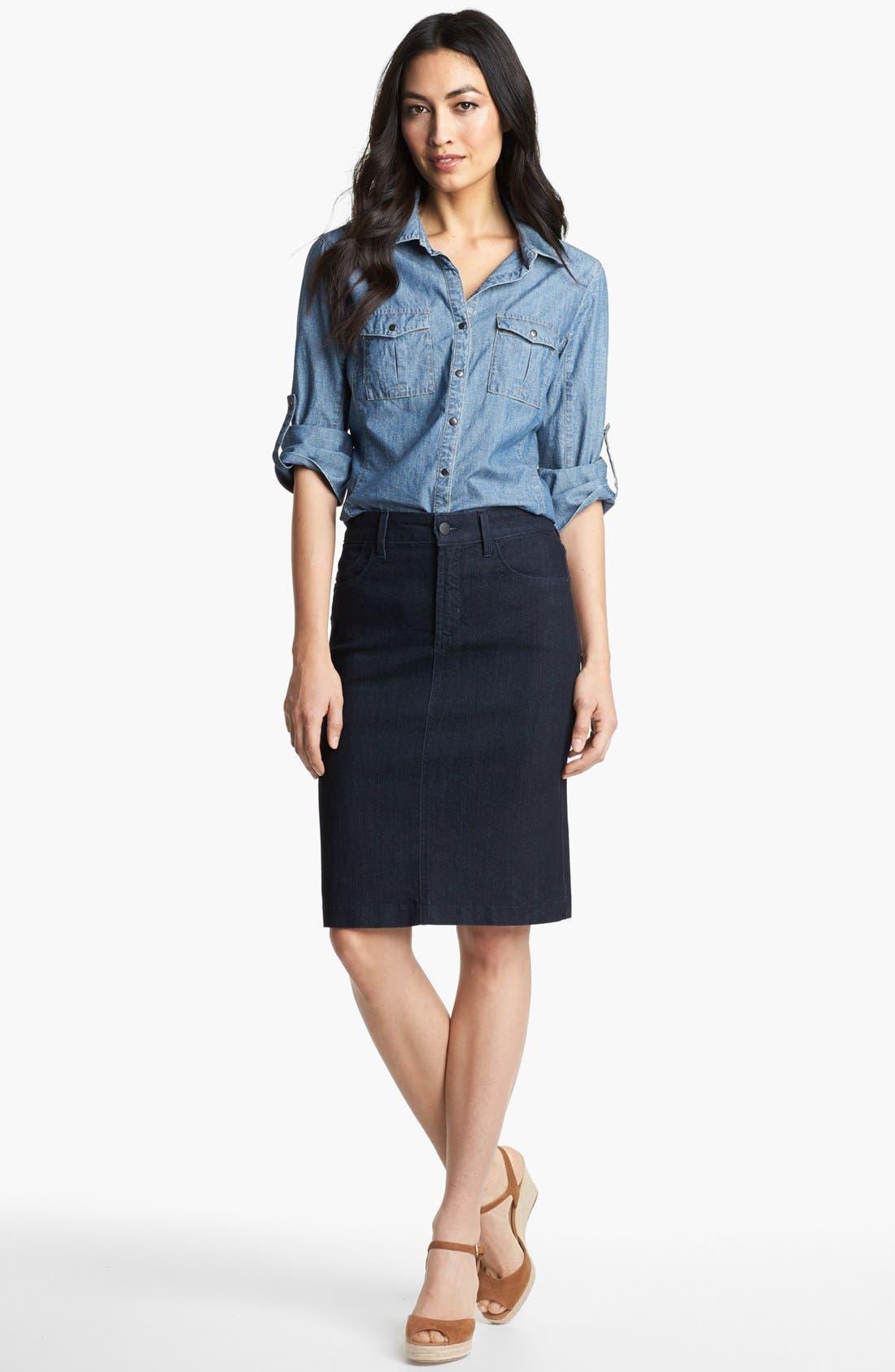 Alternate Image 1 Selected - Nexx Denim Shirt & NYDJ 'Emma' Skirt