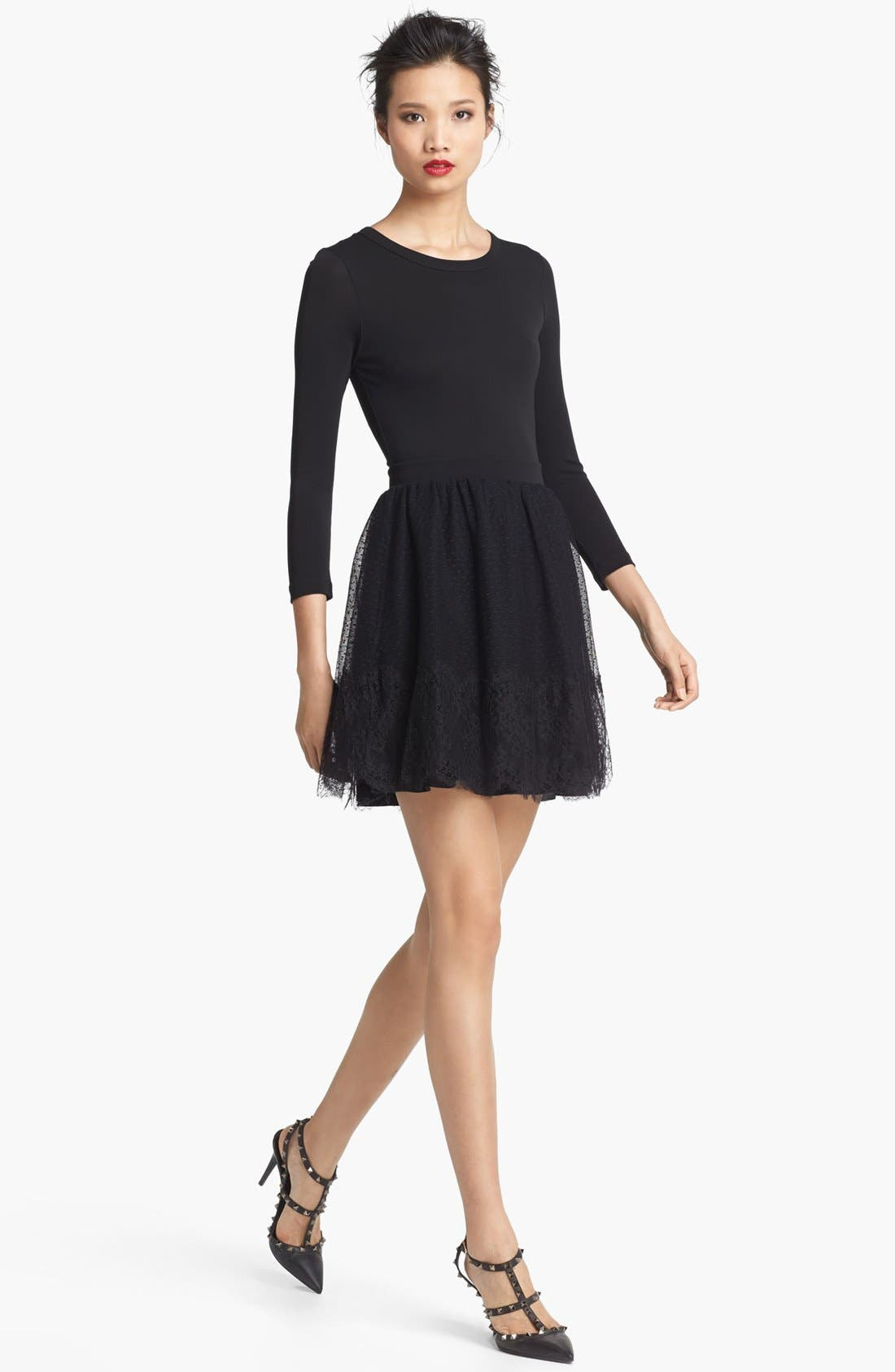 Alternate Image 1 Selected - RED Valentino Point d'Esprit Dress