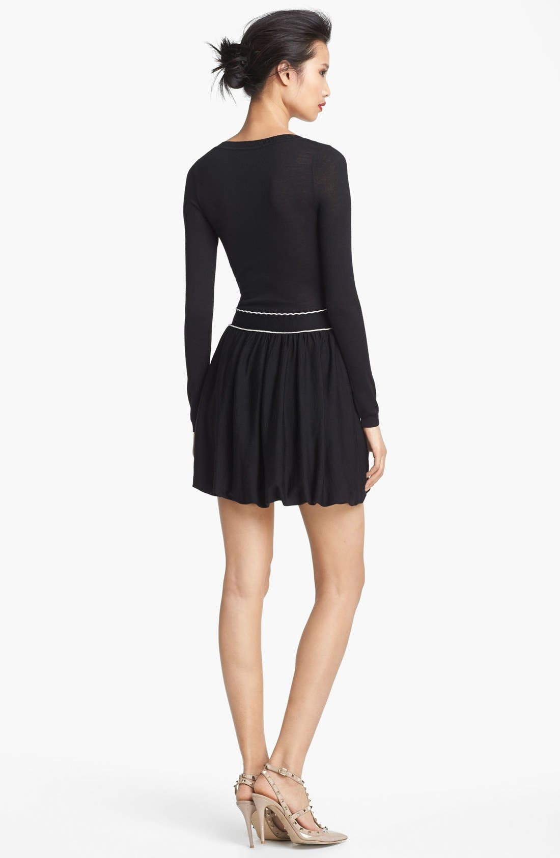 Alternate Image 2  - RED Valentino Knit Dress with Ribbon Bow Belt