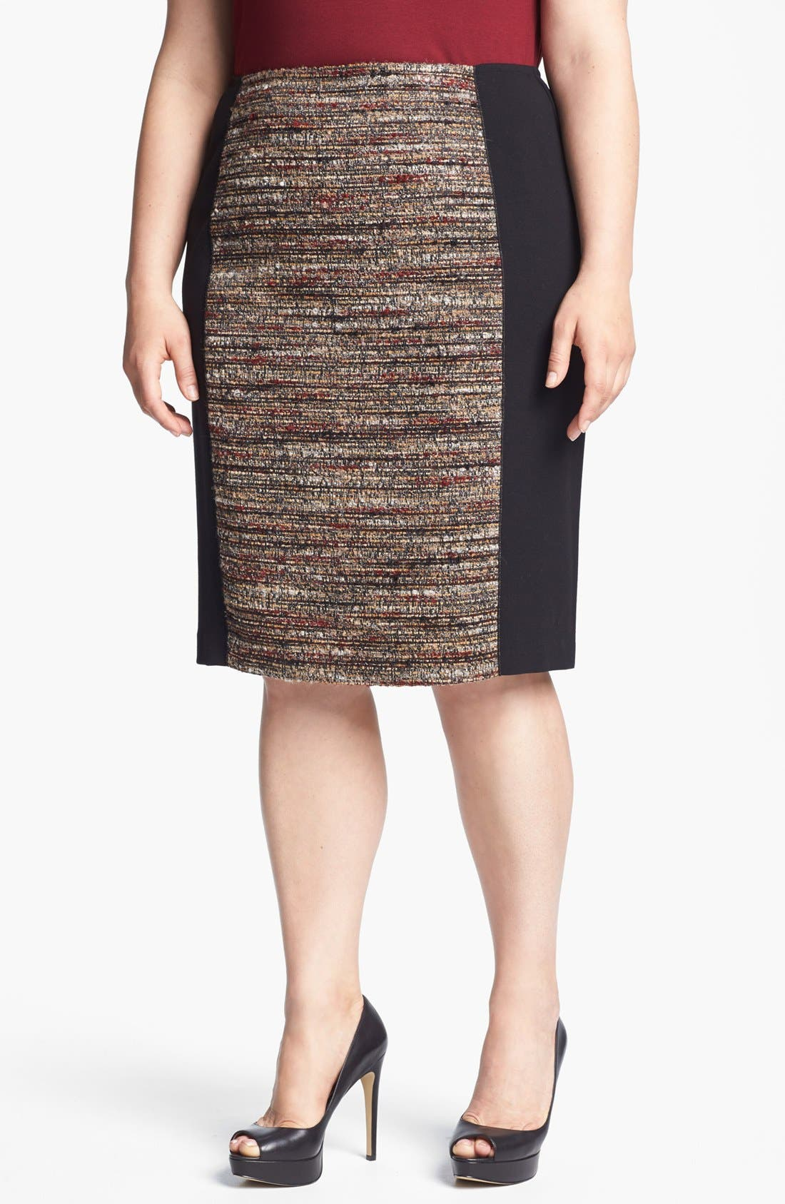 Main Image - Lafayette 148 New York 'Christina' Tweed Pencil Skirt (Plus Size)