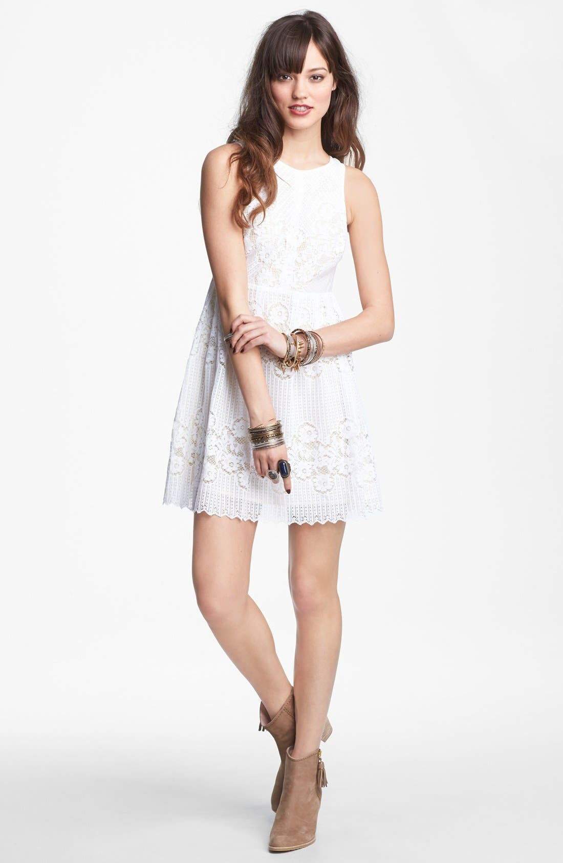 Alternate Image 1 Selected - Free People 'Rocco' Cutout Lace Dress