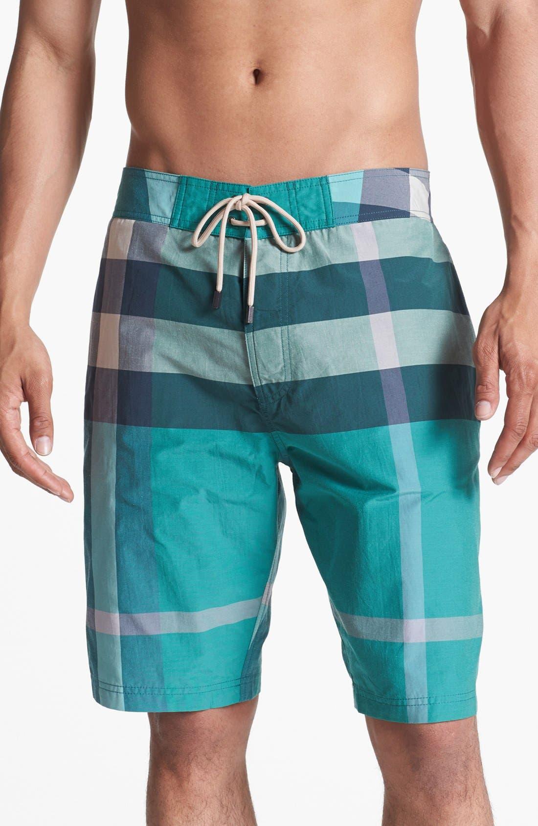 Alternate Image 1 Selected - Burberry Brit Laguna Check Print Board Shorts (Men)