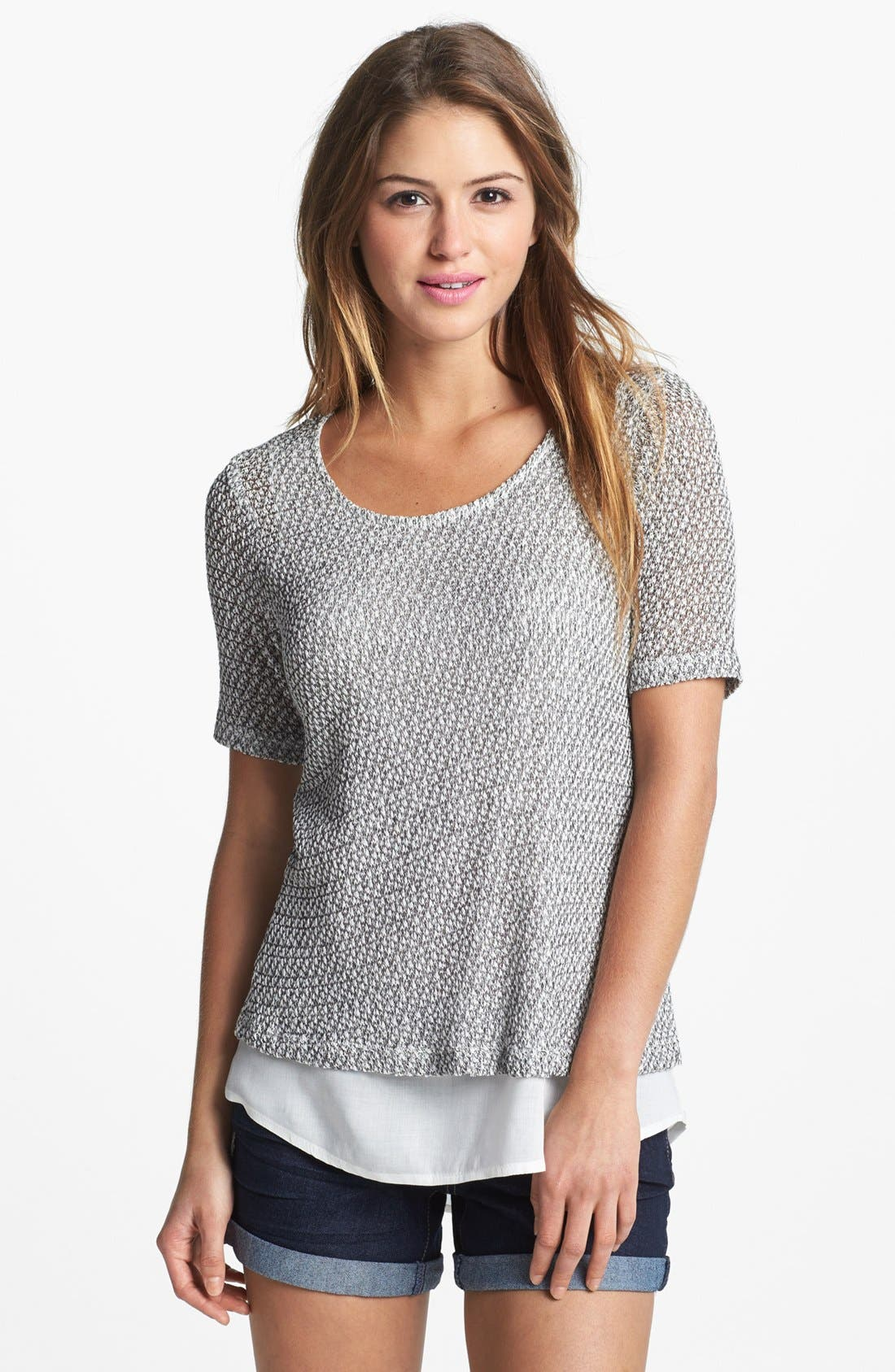Alternate Image 1 Selected - MOD.lusive Short Sleeve Knit Sweater