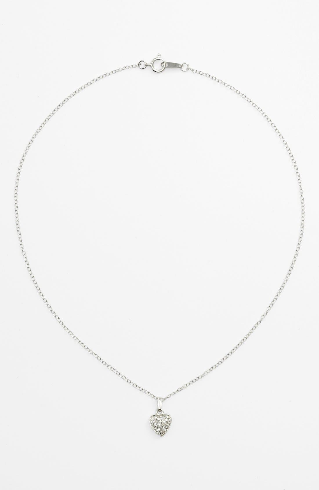 Alternate Image 1 Selected - Heart Pendant Necklace (Toddler)