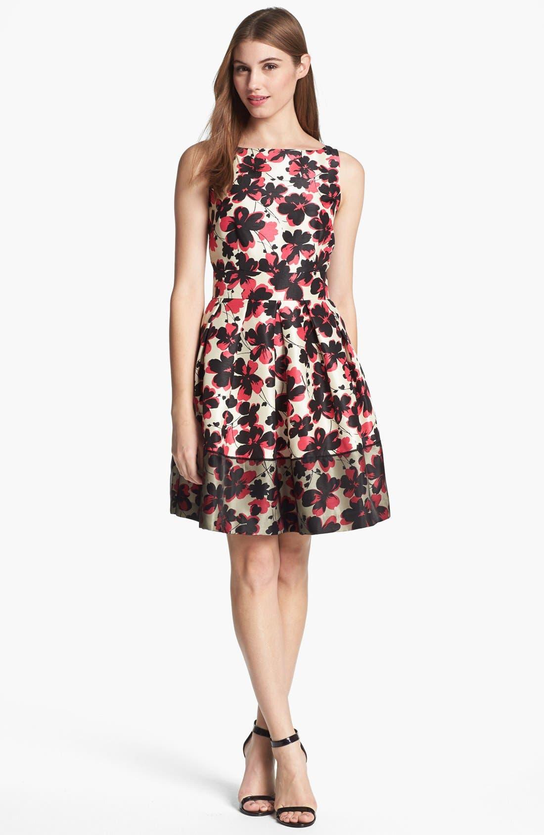 Alternate Image 1 Selected - Taylor Dresses Fit & Flare Dress