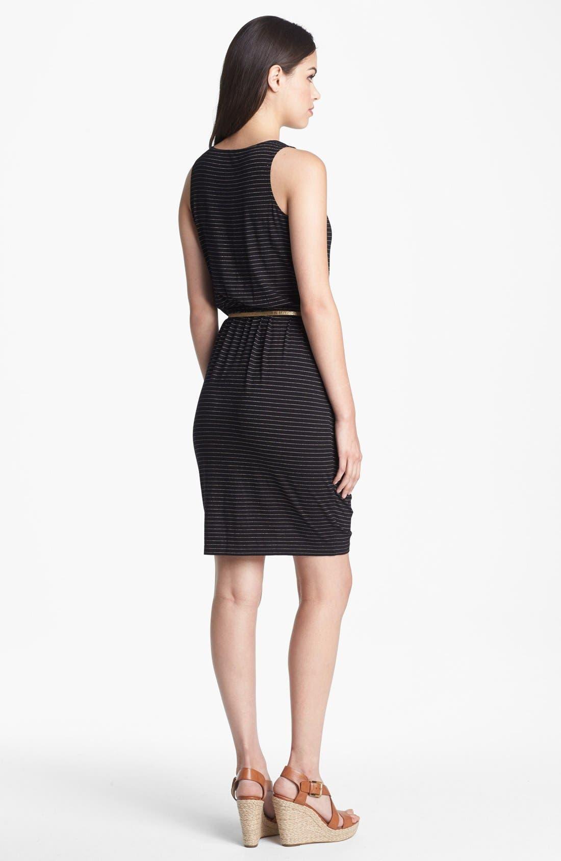 Alternate Image 2  - Calvin Klein Metallic Stripe Knit Dress