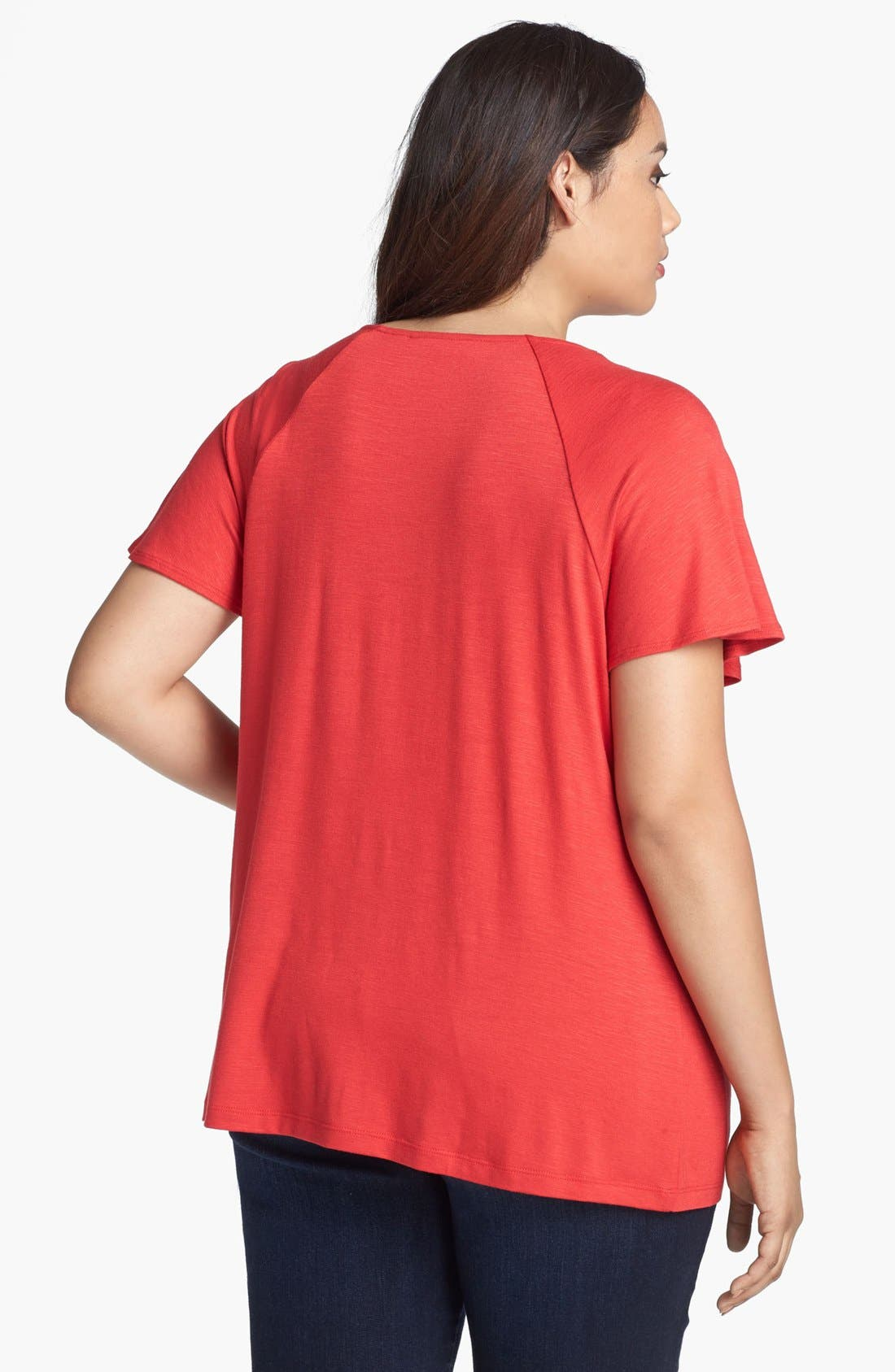 Alternate Image 2  - Sejour Twist Neck Top (Plus Size)