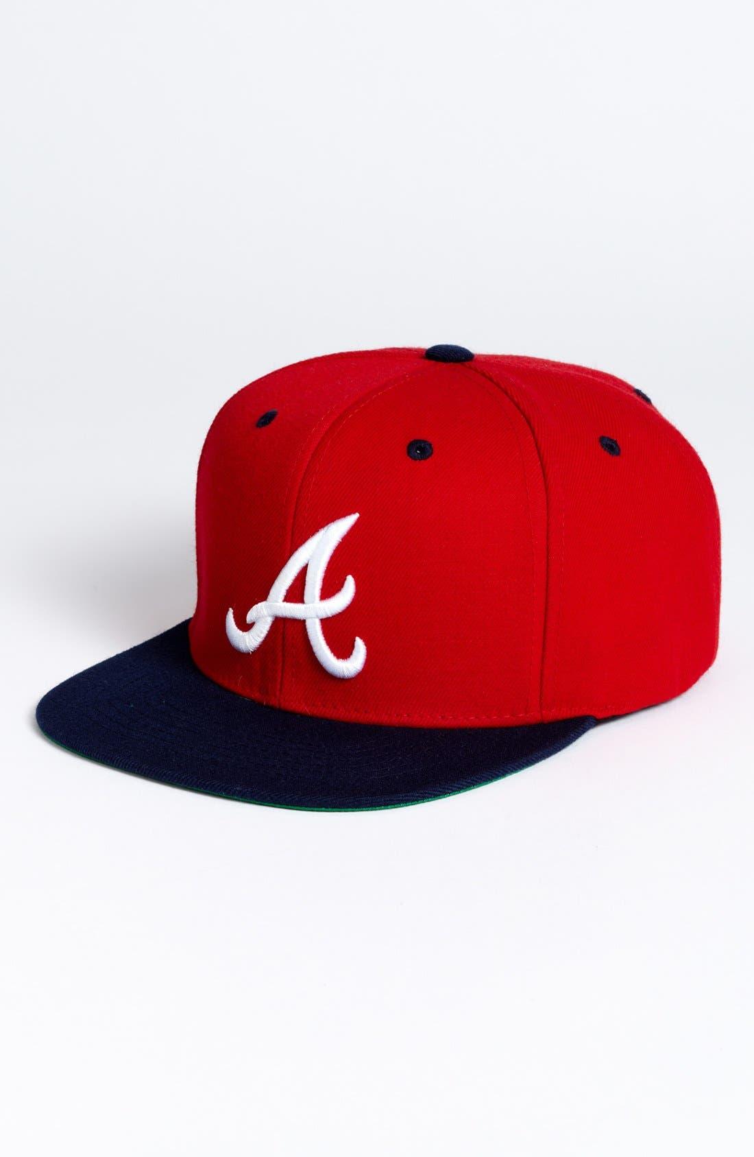 Alternate Image 1 Selected - American Needle 'Atlanta Braves - Back 2 Front' Snapback Baseball Cap