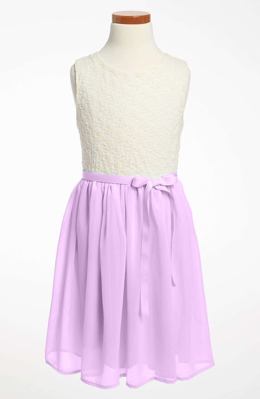 Main Image - Zunie Lace Bodice Dress (Little Girls & Big Girls)