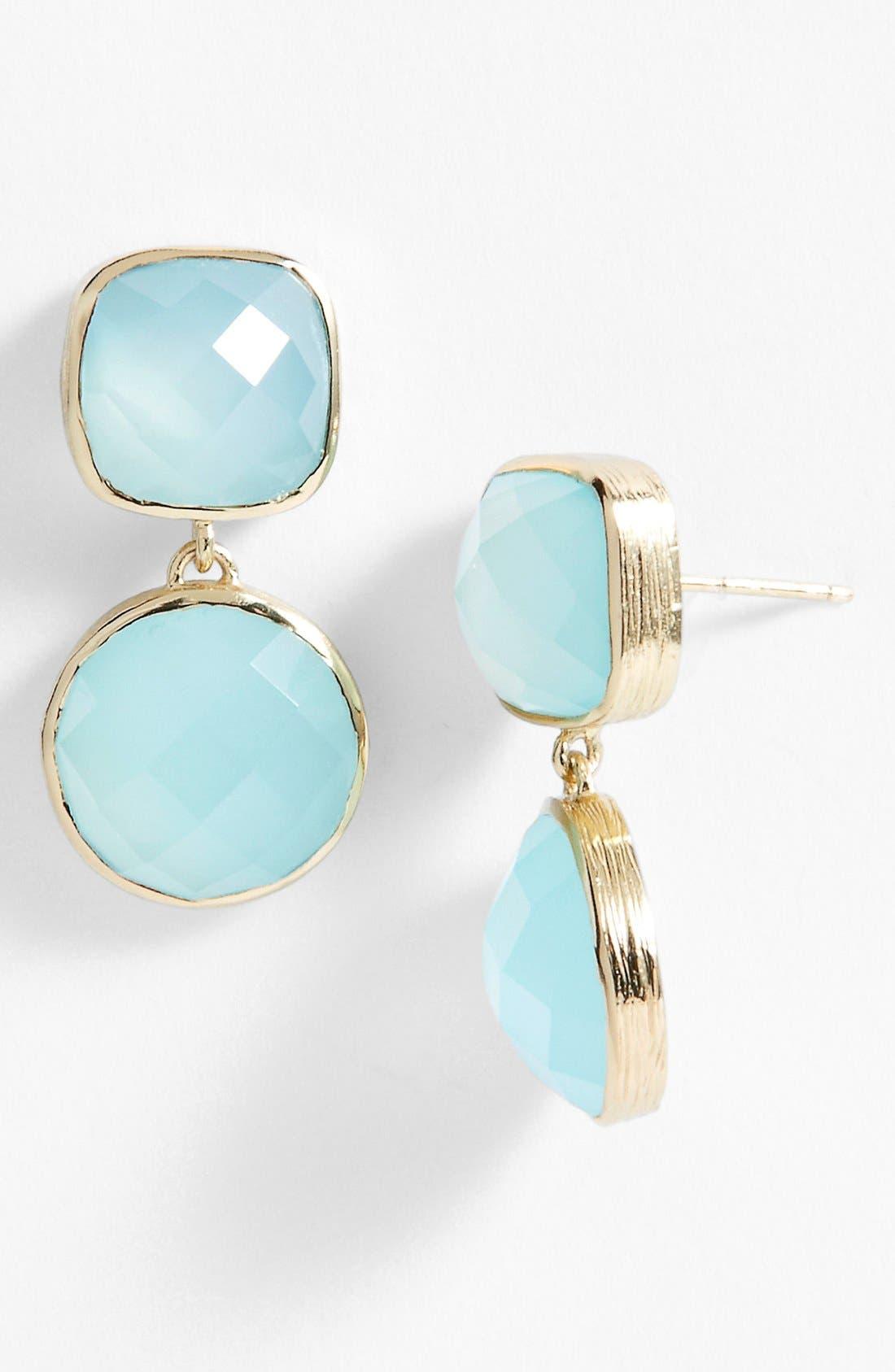 Alternate Image 1 Selected - Melinda Maria 'Simple Stone - Toby' Drop Earrings