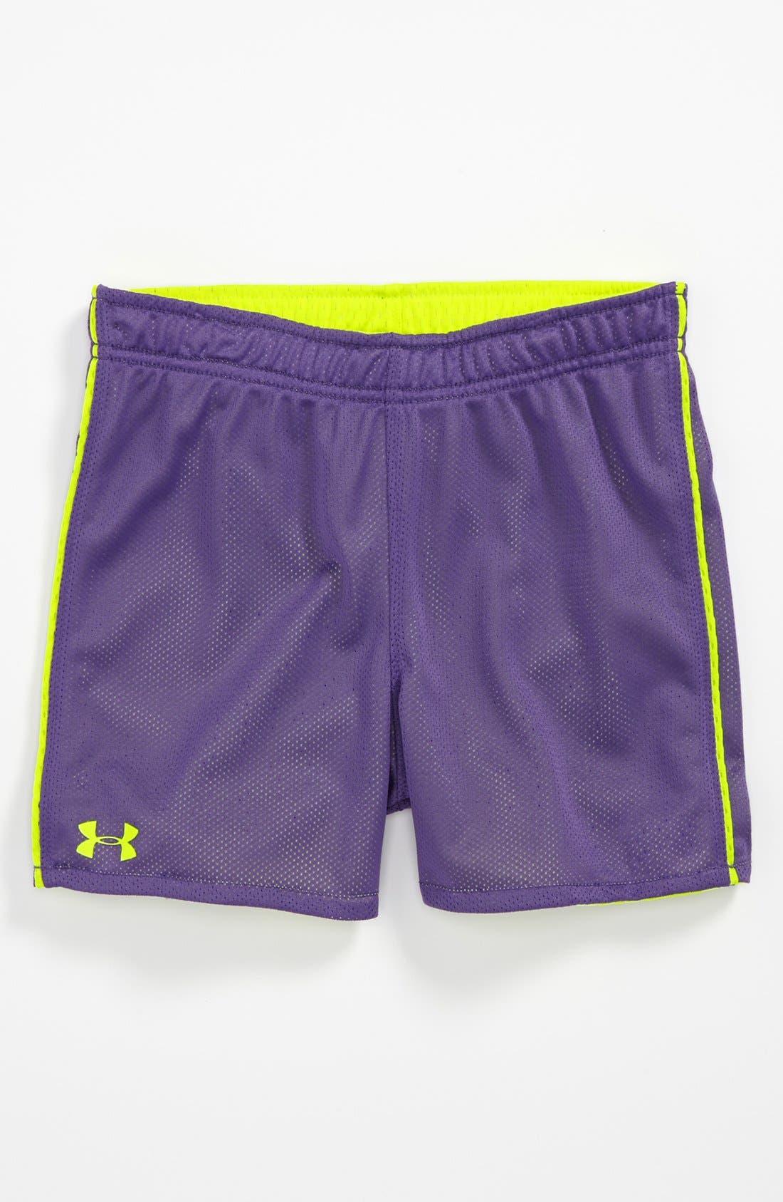 Alternate Image 2  - Under Armour Reversible Shorts (Little Girls)