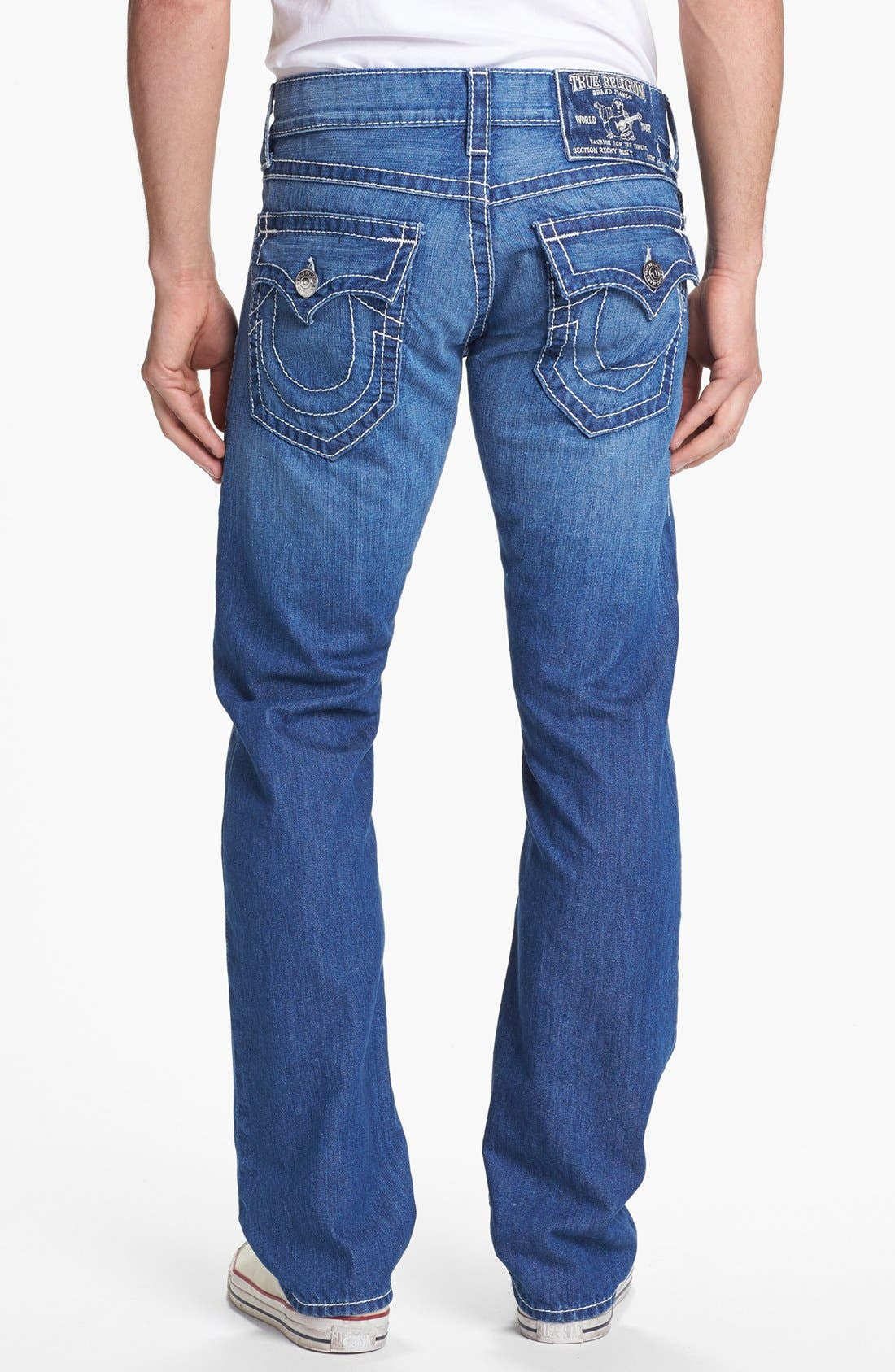 Alternate Image 1 Selected - True Religion Brand Jeans 'Ricky' Straight Leg Jeans (Voyager)