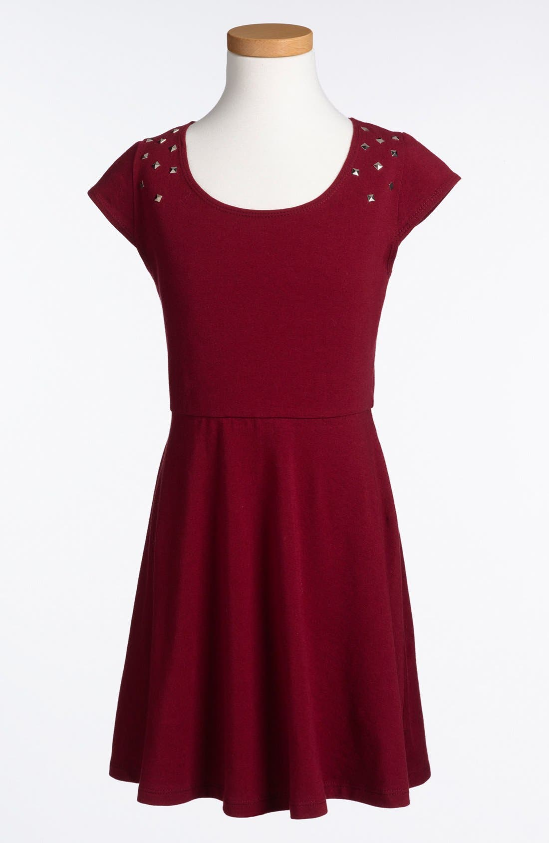 Main Image - Mia Chica Cap Sleeve Skater Dress (Little Girls & Big Girls) (Online Only)