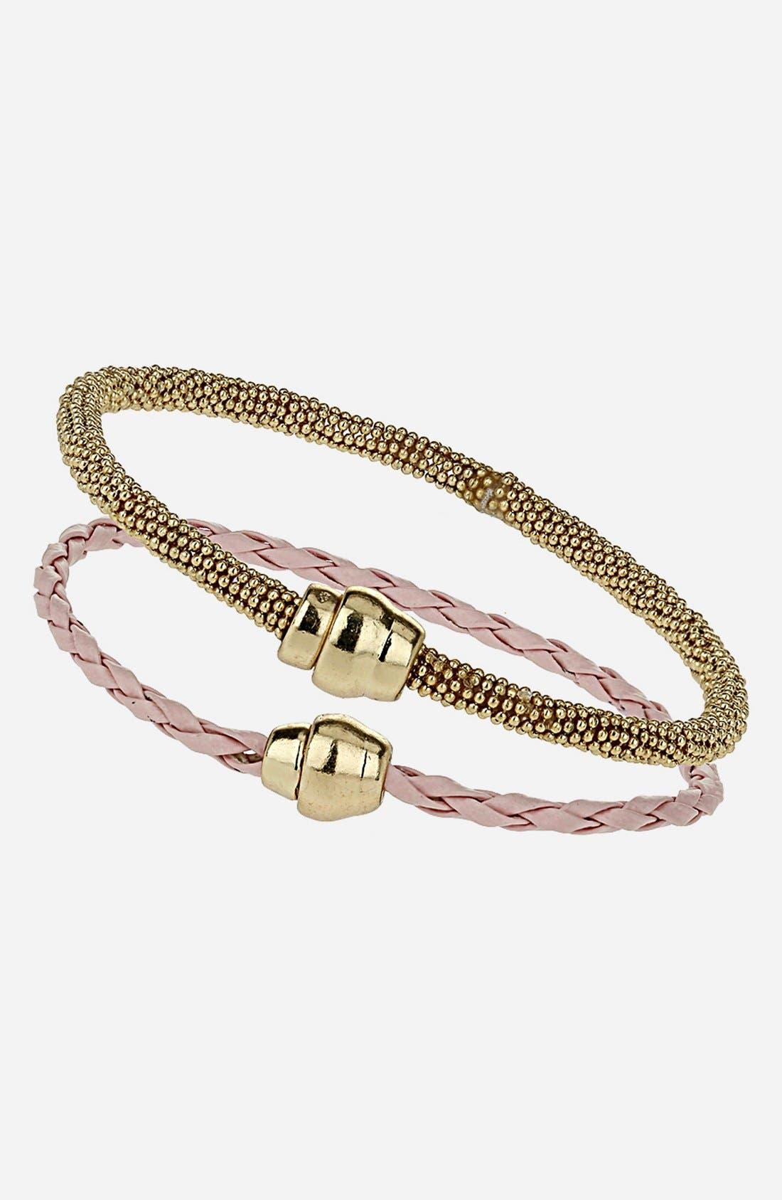 Main Image - Topshop 'Plait' Bracelets (Set of 2)