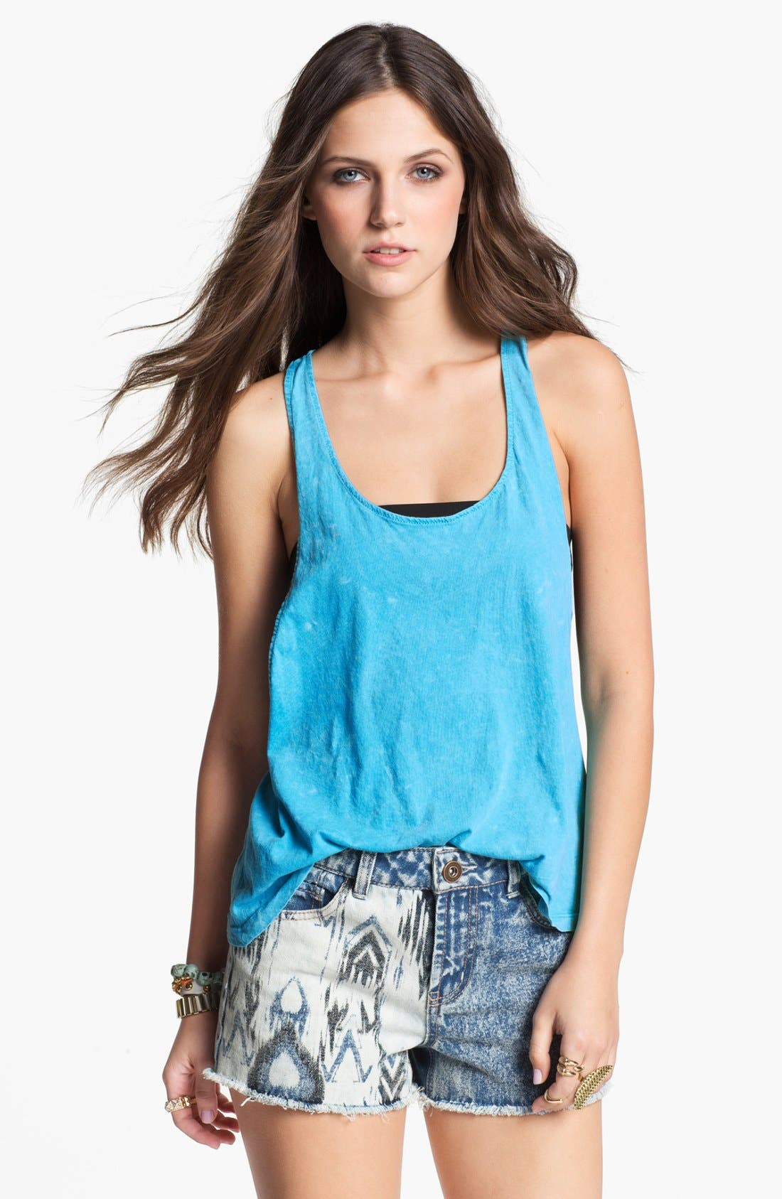 Alternate Image 1 Selected - Project Social T Acid Wash Muscle Tank (Juniors)