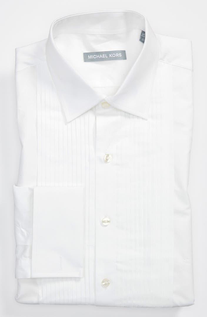 michael kors regular fit non iron tuxedo shirt nordstrom