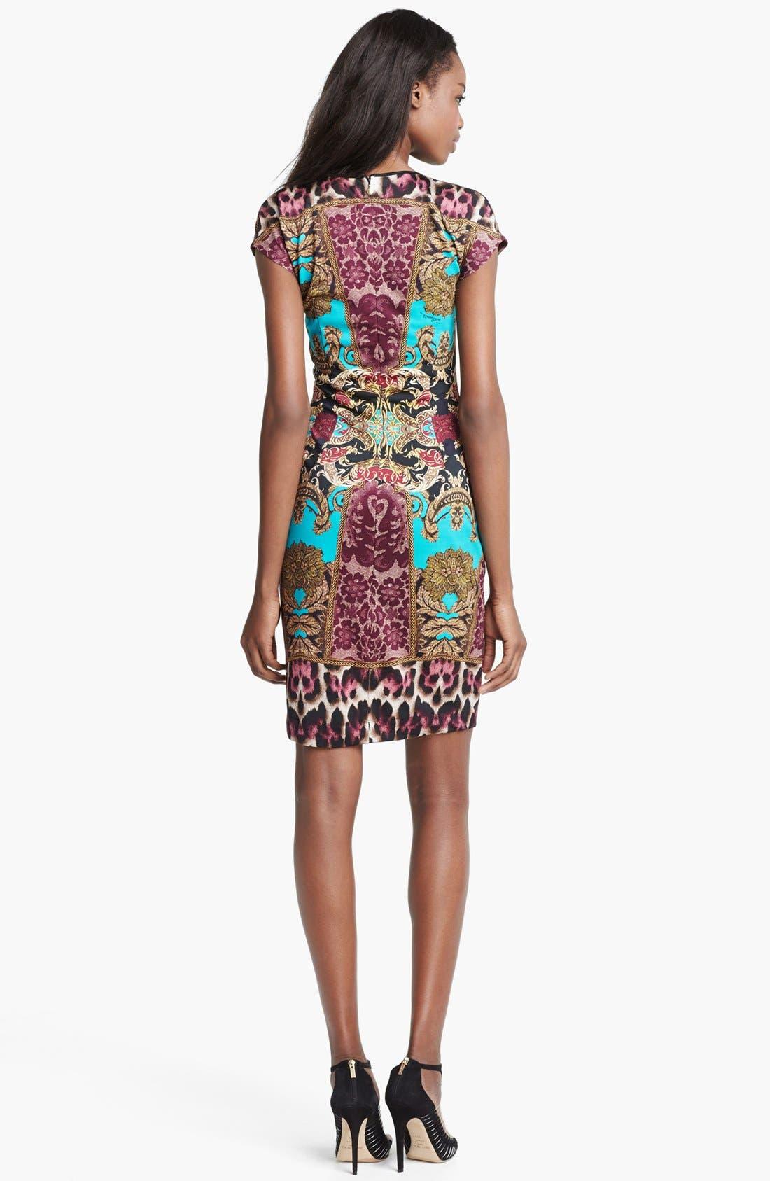 Alternate Image 2  - Just Cavalli Cap Sleeve Print Jersey Dress