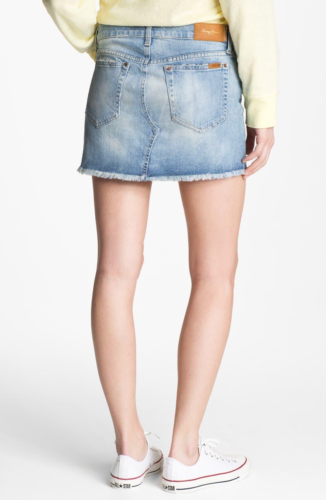 Alternate Image 2  - Joe's 'Easy Cutoff' Denim Miniskirt (Mila)