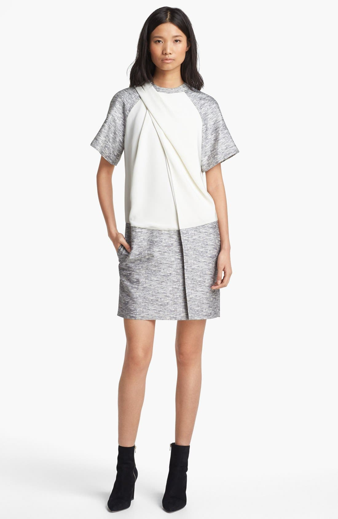 Alternate Image 1 Selected - Alexander Wang Mélange Print Wool & Silk Dress