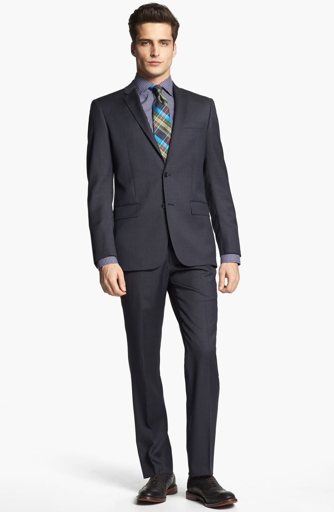 Main Image - John Varvatos Star USA Suit & BOSS Black Dress Shirt