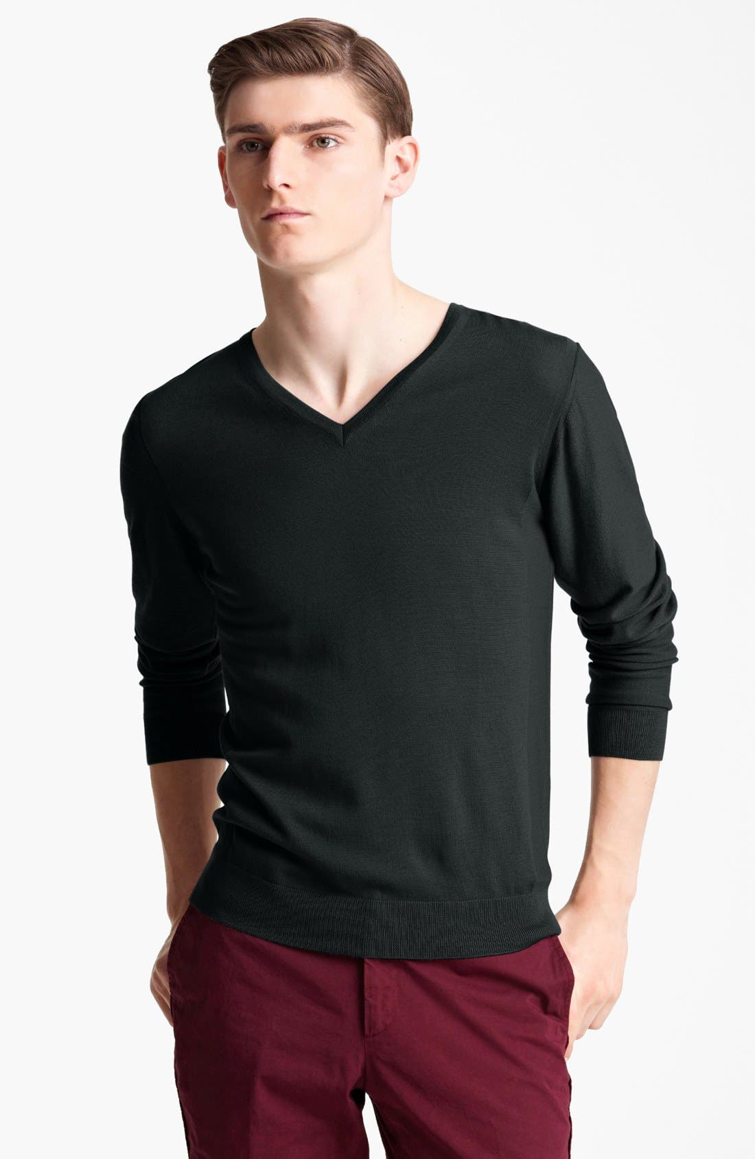 Alternate Image 1 Selected - Lanvin Merino Wool V-Neck Sweater