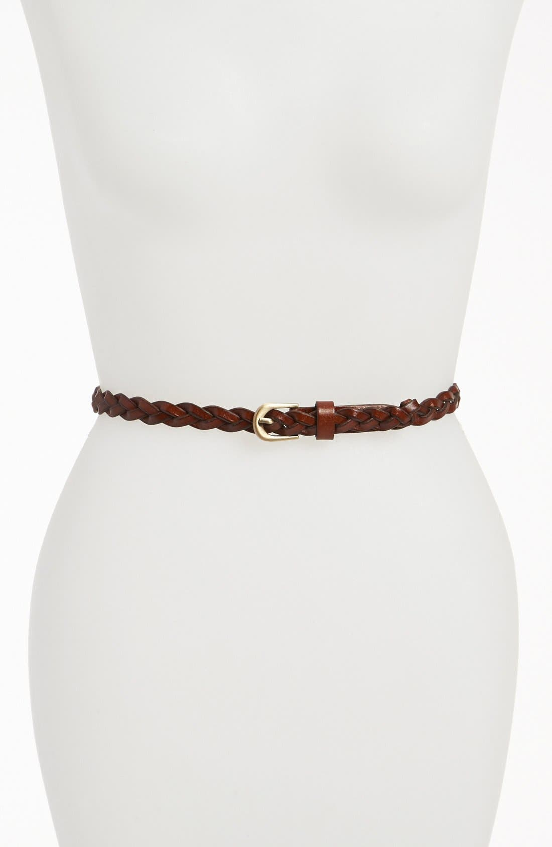 Main Image - Lulu Skinny Braid Belt (Juniors)