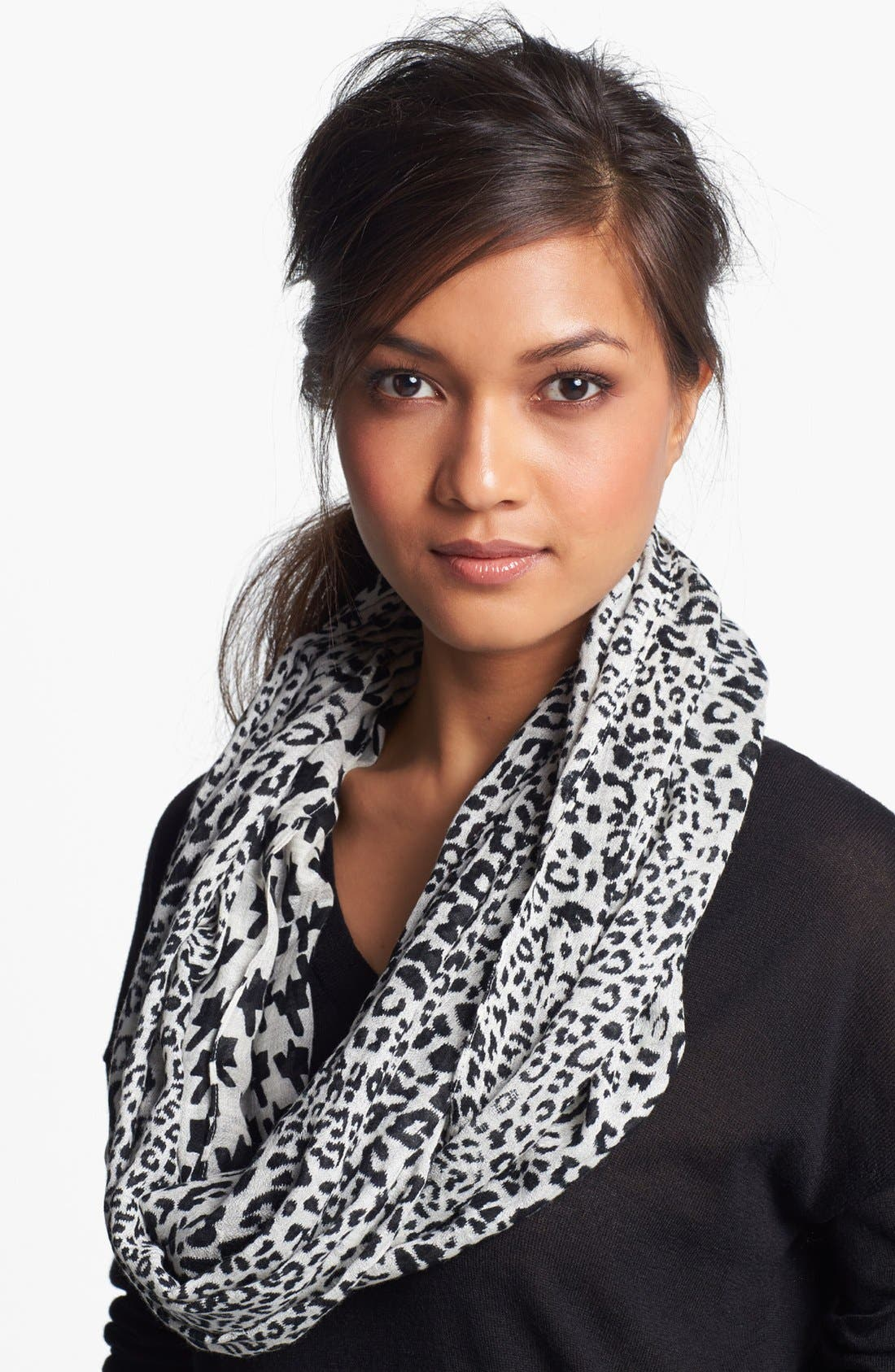 Alternate Image 1 Selected - Nordstrom Animal Print & Houndstooth Infinity Scarf