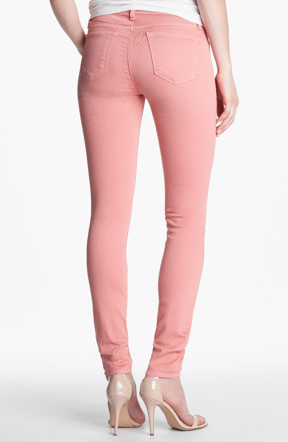 Alternate Image 2  - J Brand Super Skinny Stretch Jeans (Washed Coho)