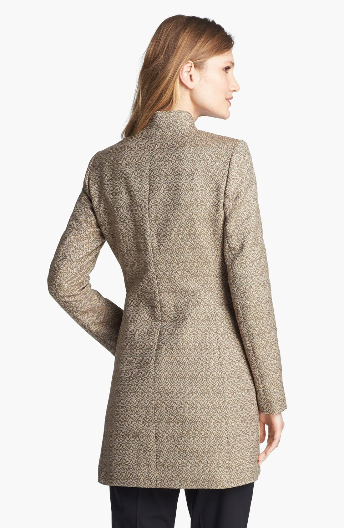 Alternate Image 3  - Lafayette 148 New York 'Idealist' Herringbone Topper