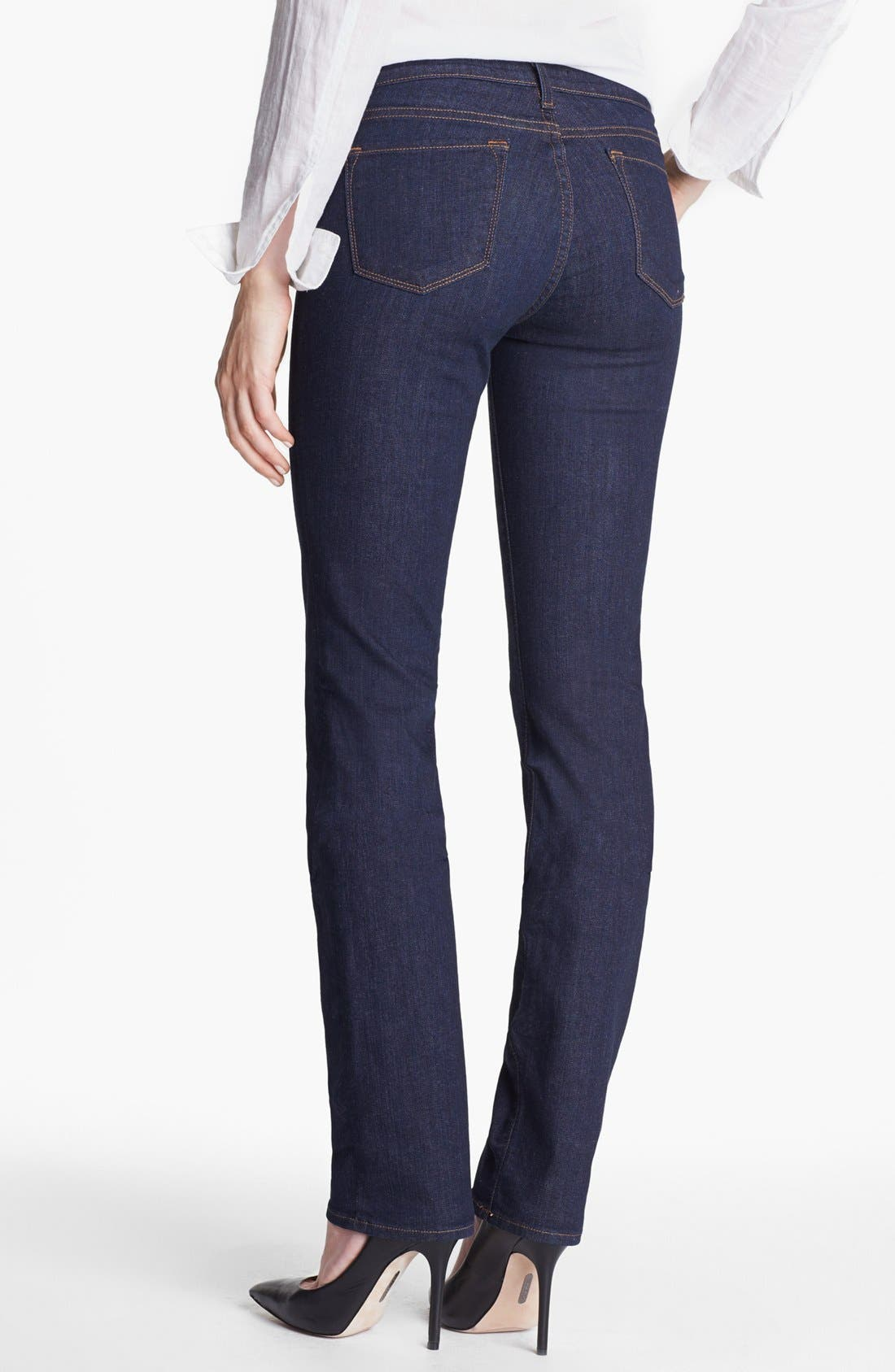 Alternate Image 2  - J Brand '814' Mid-Rise Cigarette Leg Jeans (Pure)