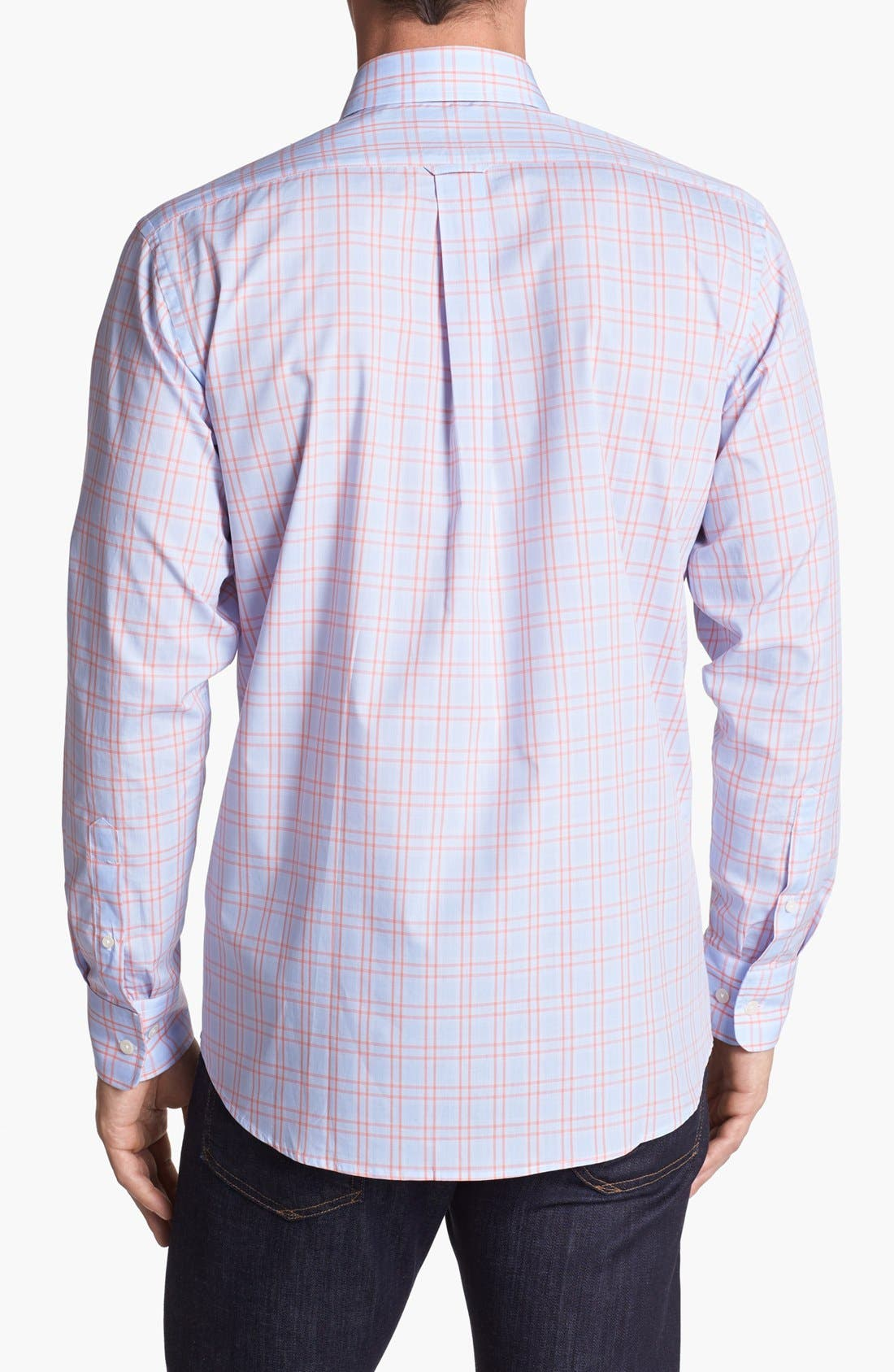 Alternate Image 2  - Façonnable Club Fit Window Plaid Sport Shirt