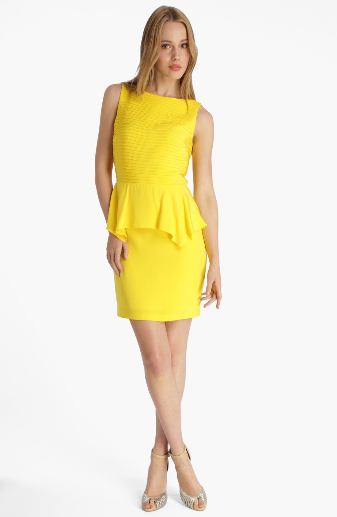 Alternate Image 1 Selected - Catherine Catherine Malandrino 'Penny' Peplum Dress