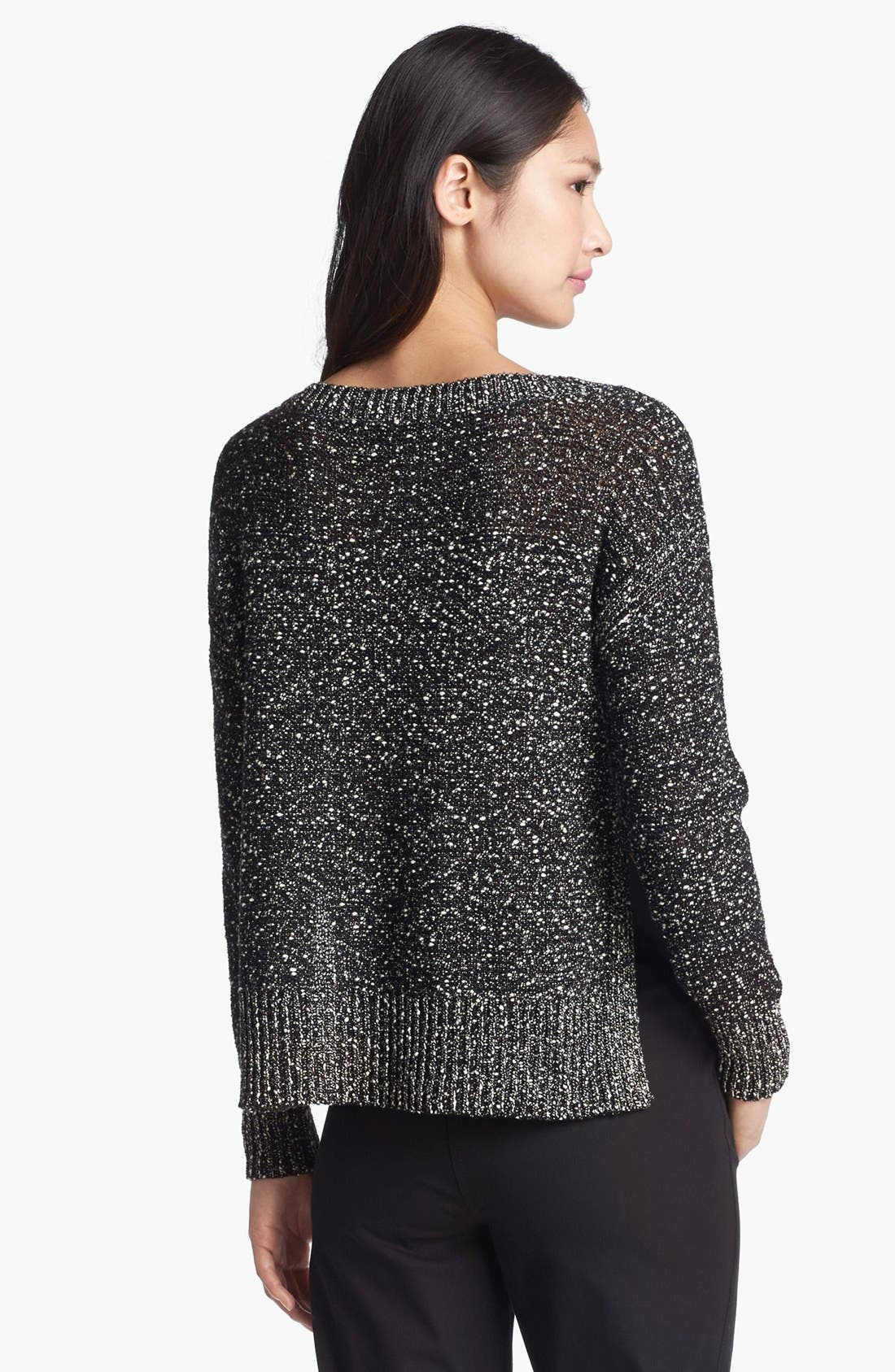 Alternate Image 2  - Eileen Fisher Wrapped Cotton Nubble Sweater
