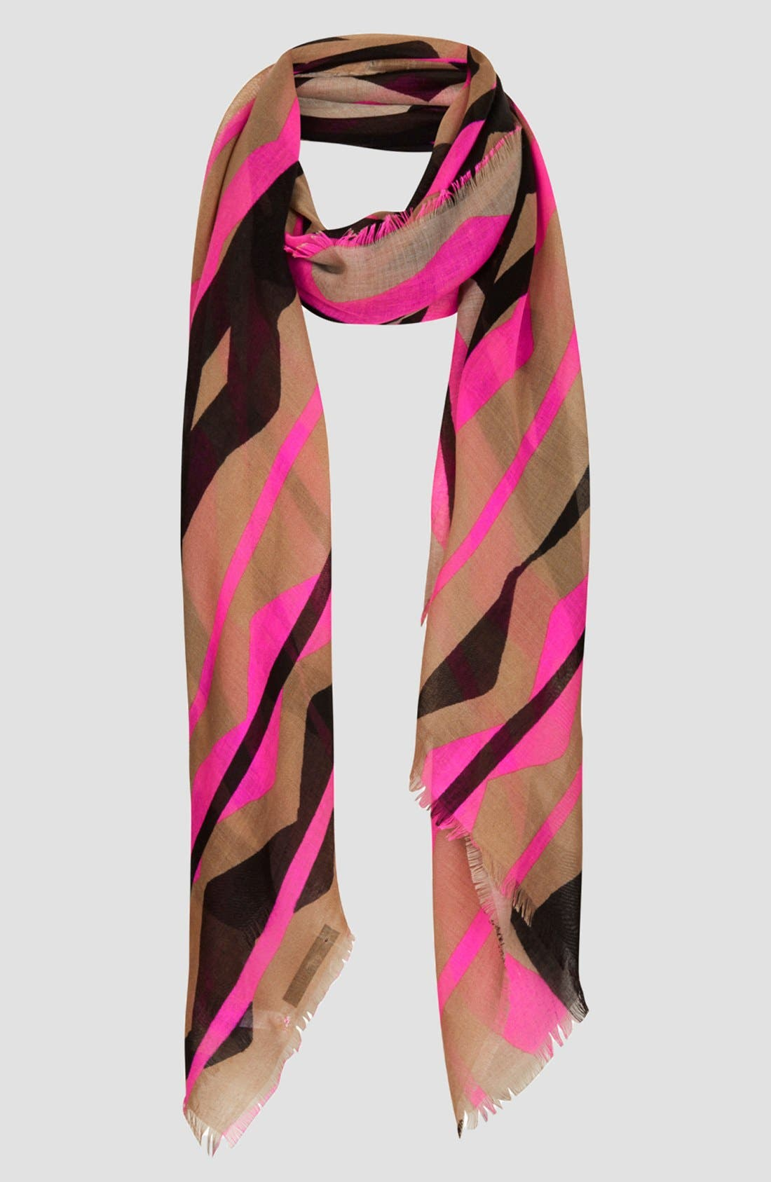 Alternate Image 1 Selected - Topshop Neon Zigzag Scarf