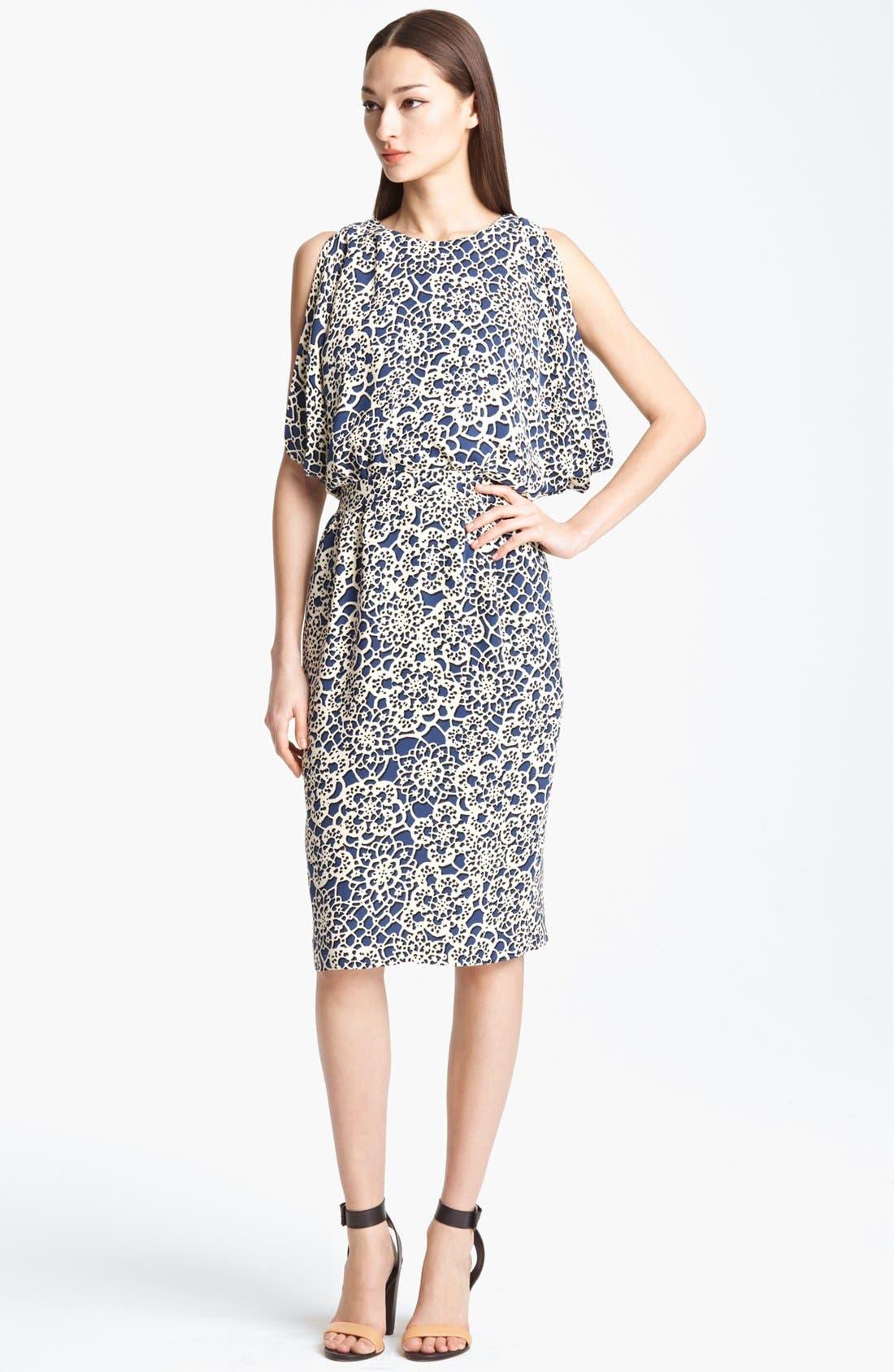 Alternate Image 1 Selected - Thakoon Open Back Print Silk Dress