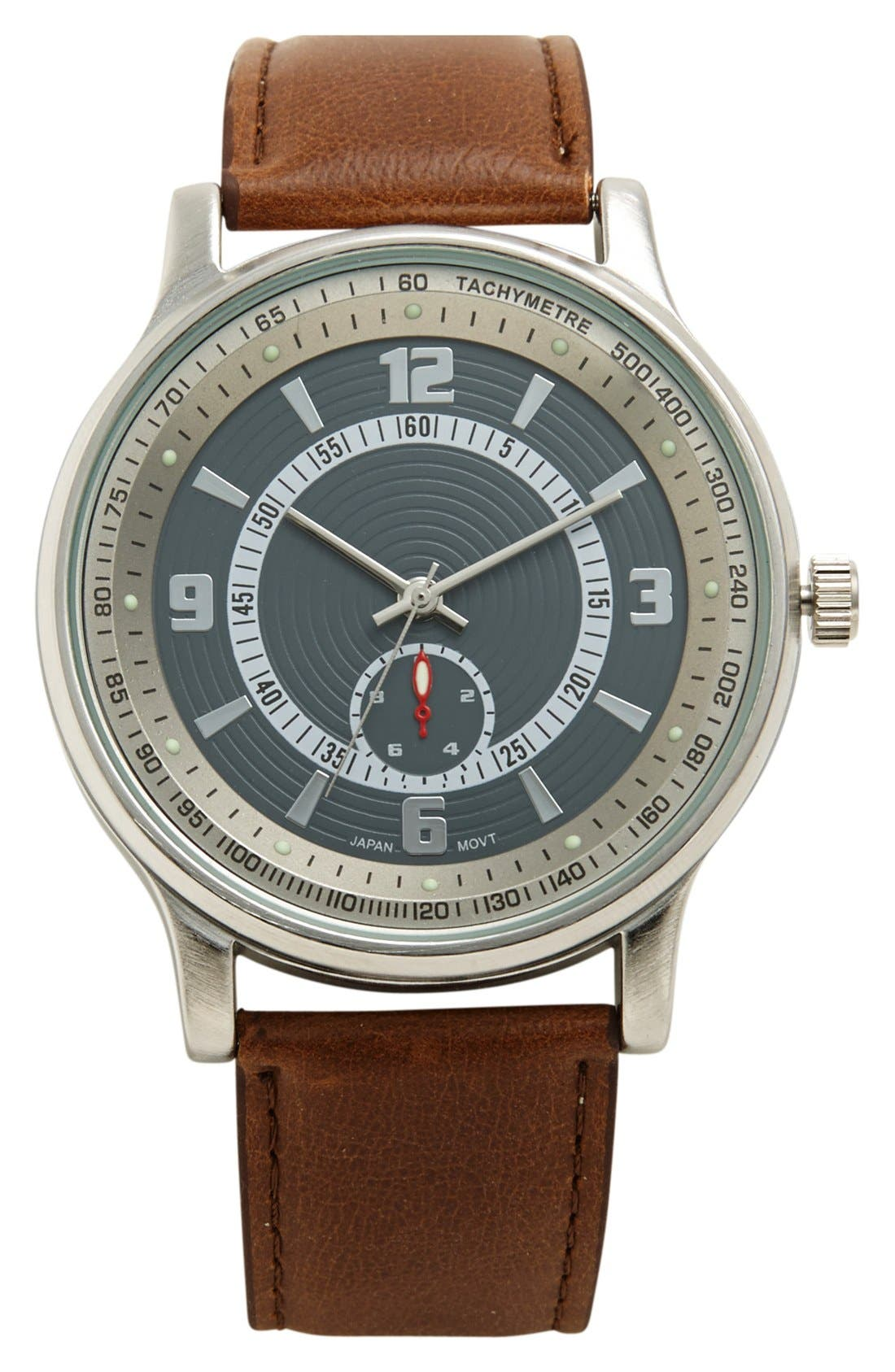 Main Image - ACCUTIME Round Compass Watch, 45mm